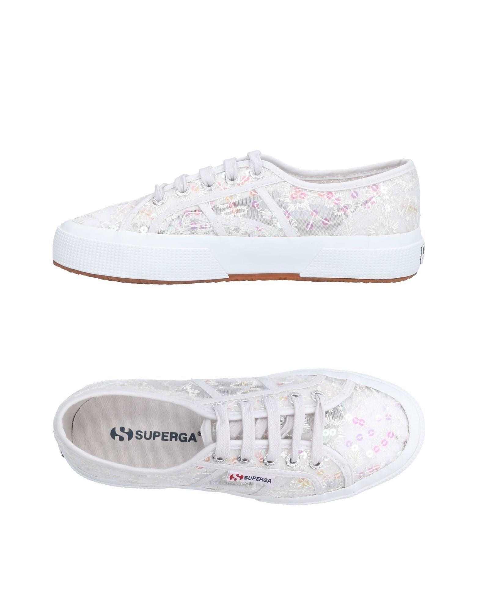 Superga White Low Top Sneakers