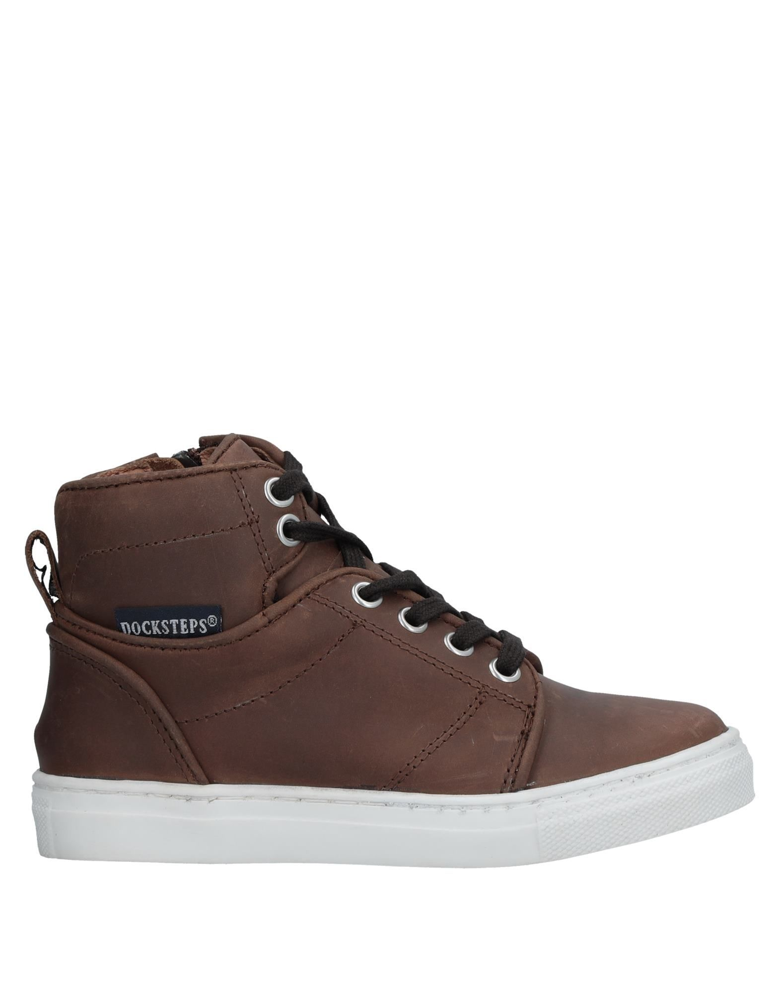 Docksteps Cocoa Boys Leather Shoes