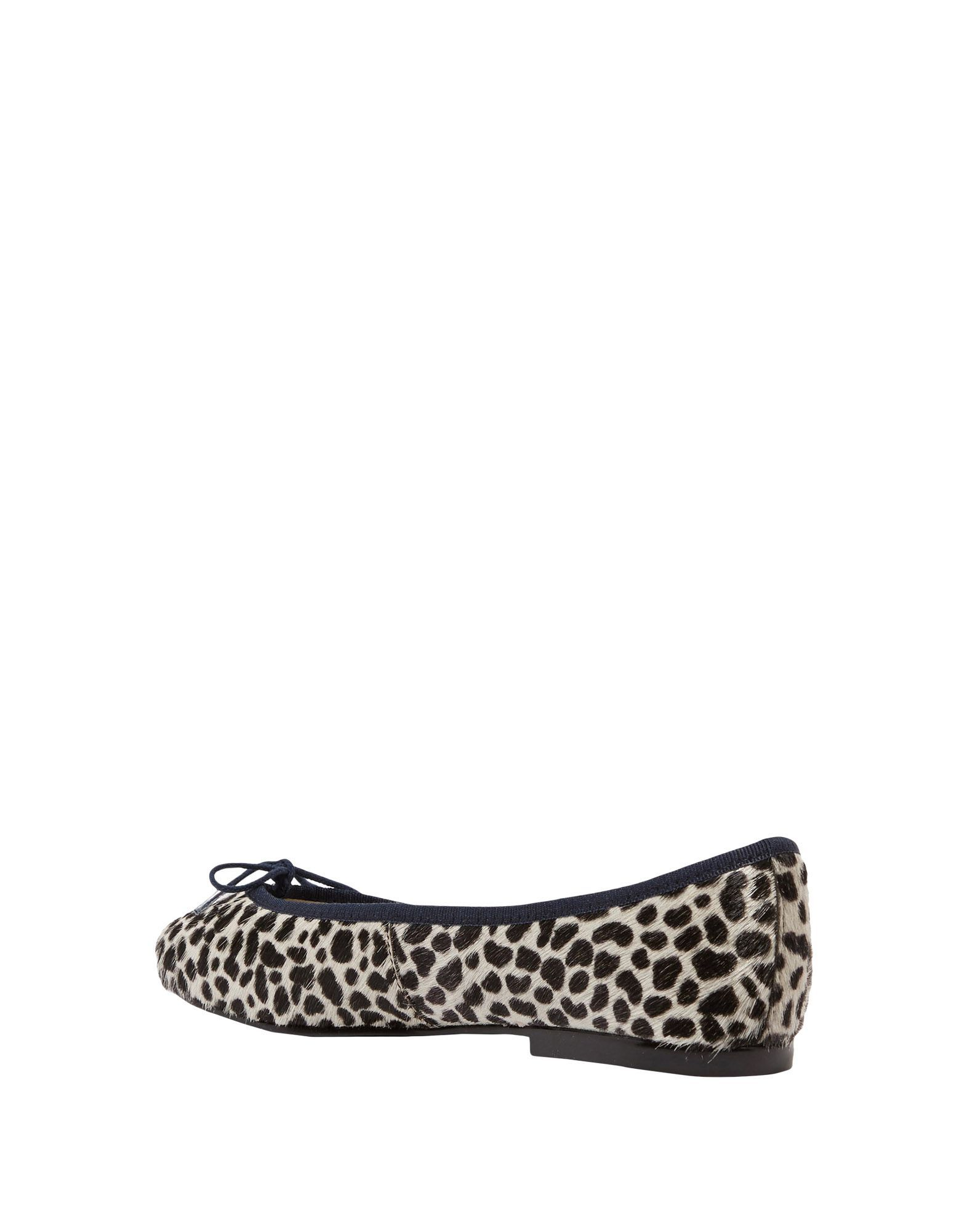 French Sole Black Leopard Print Leather Ballet Flats