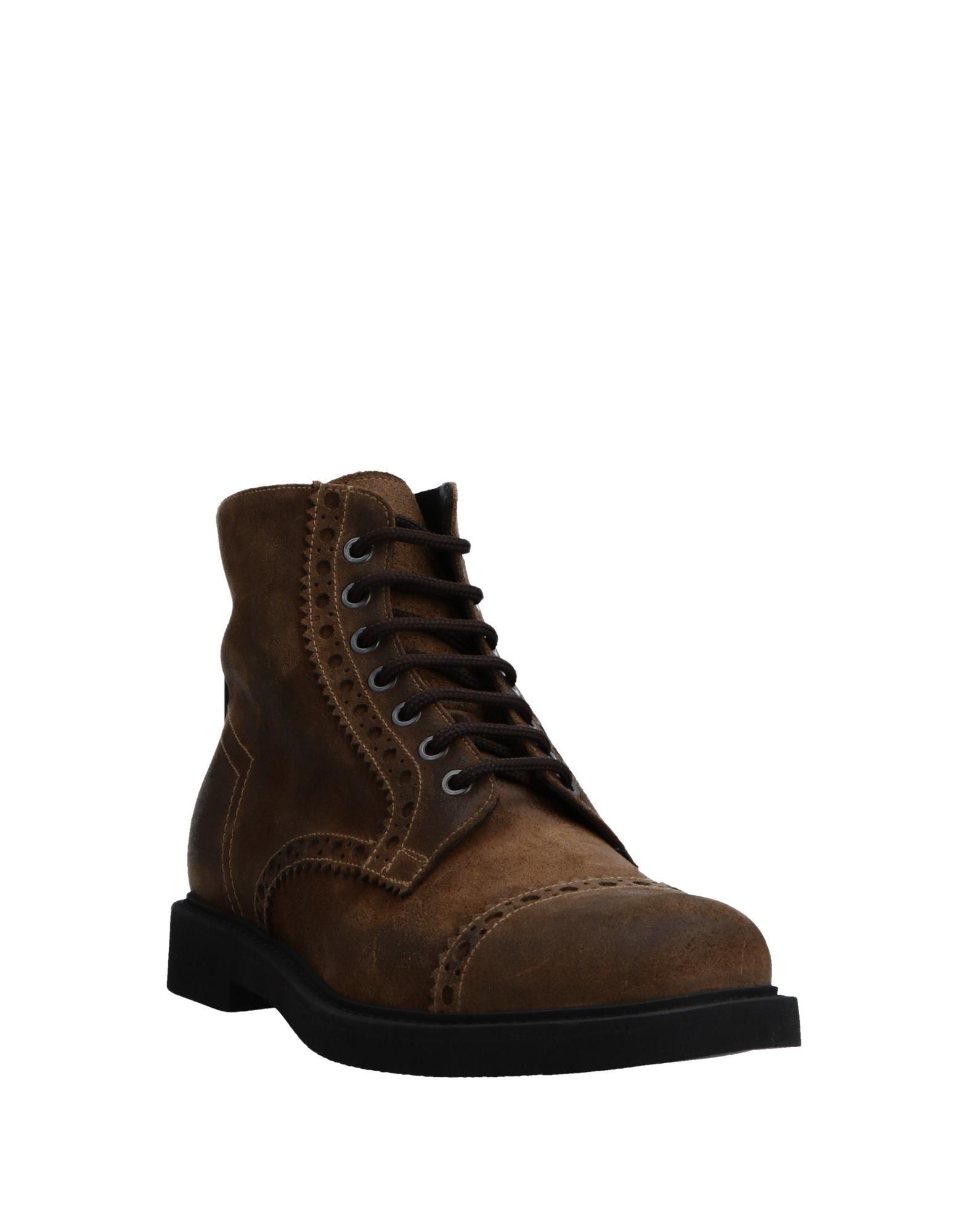 Bruno Bordese Man Ankle boots Khaki Leather