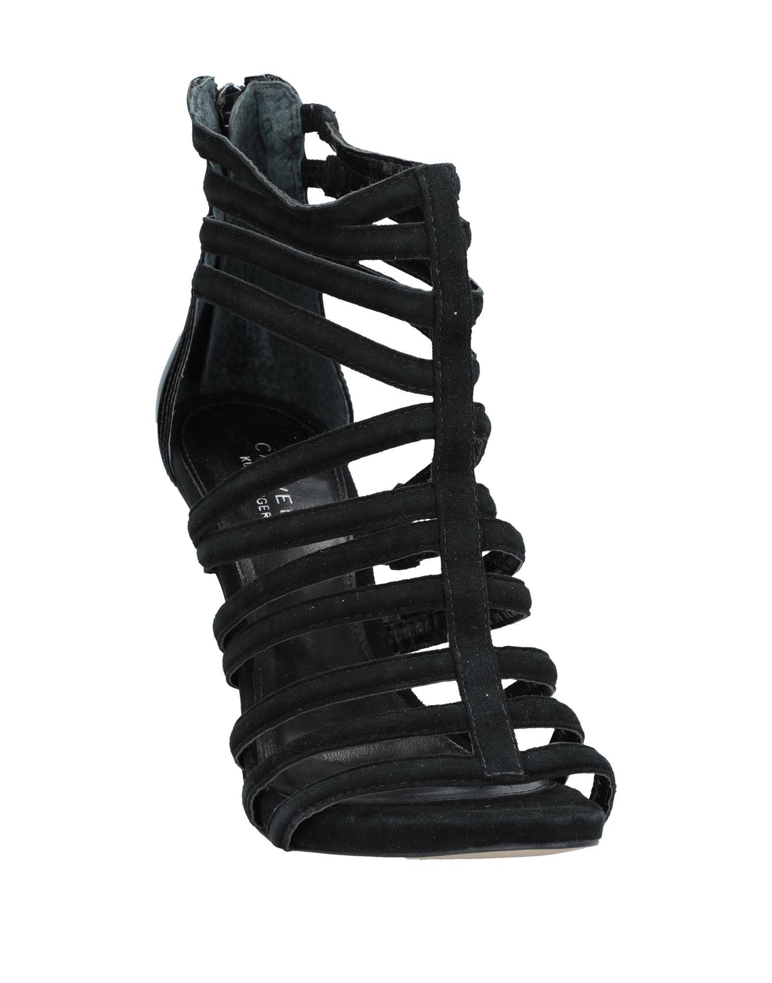 Carvela Black Leather Sandals