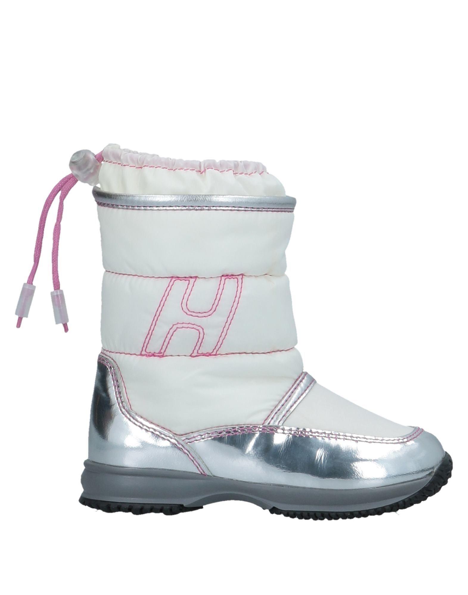 Hogan White Girls Leather Shoes