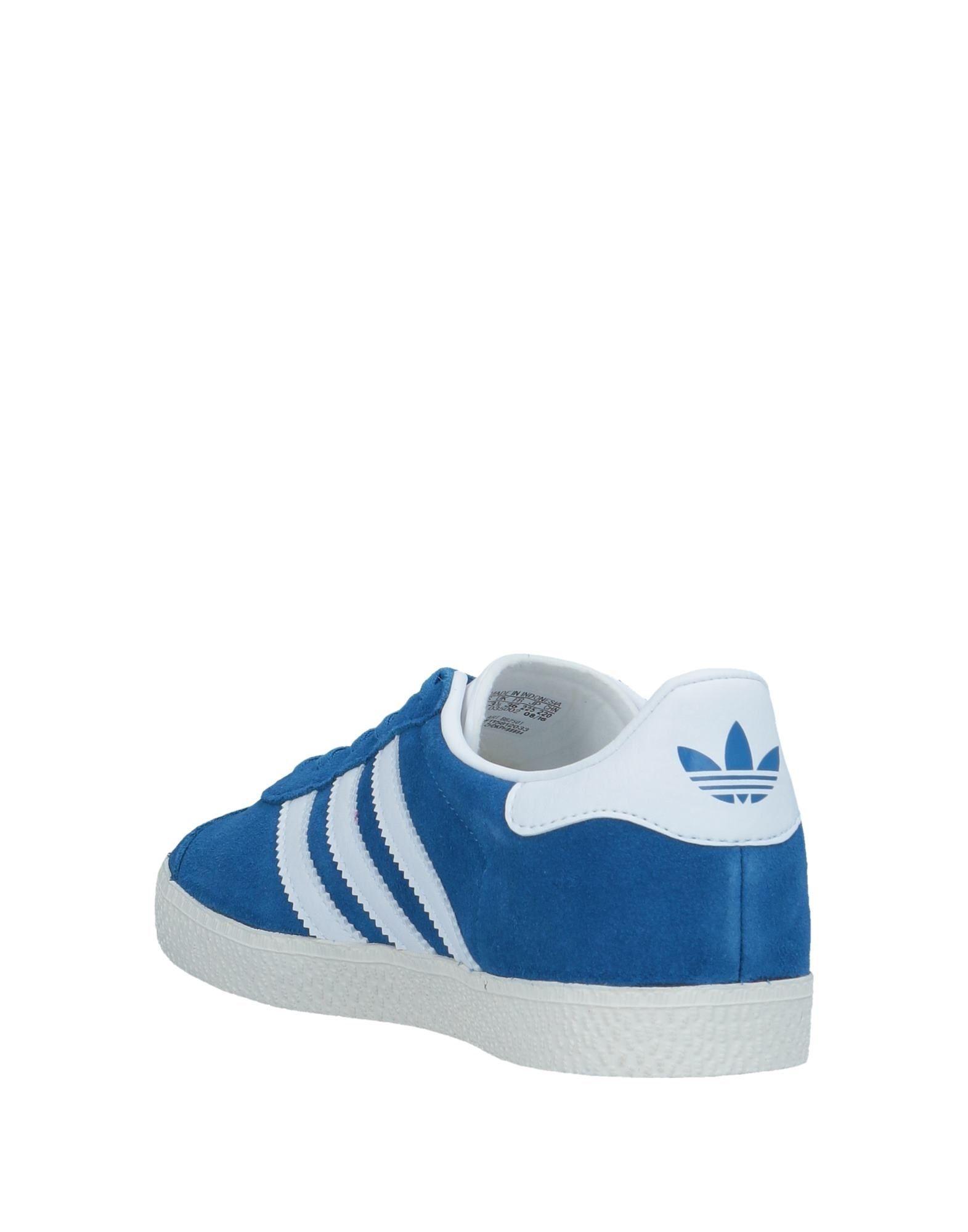 Adidas Originals Blue Leather Sneakers