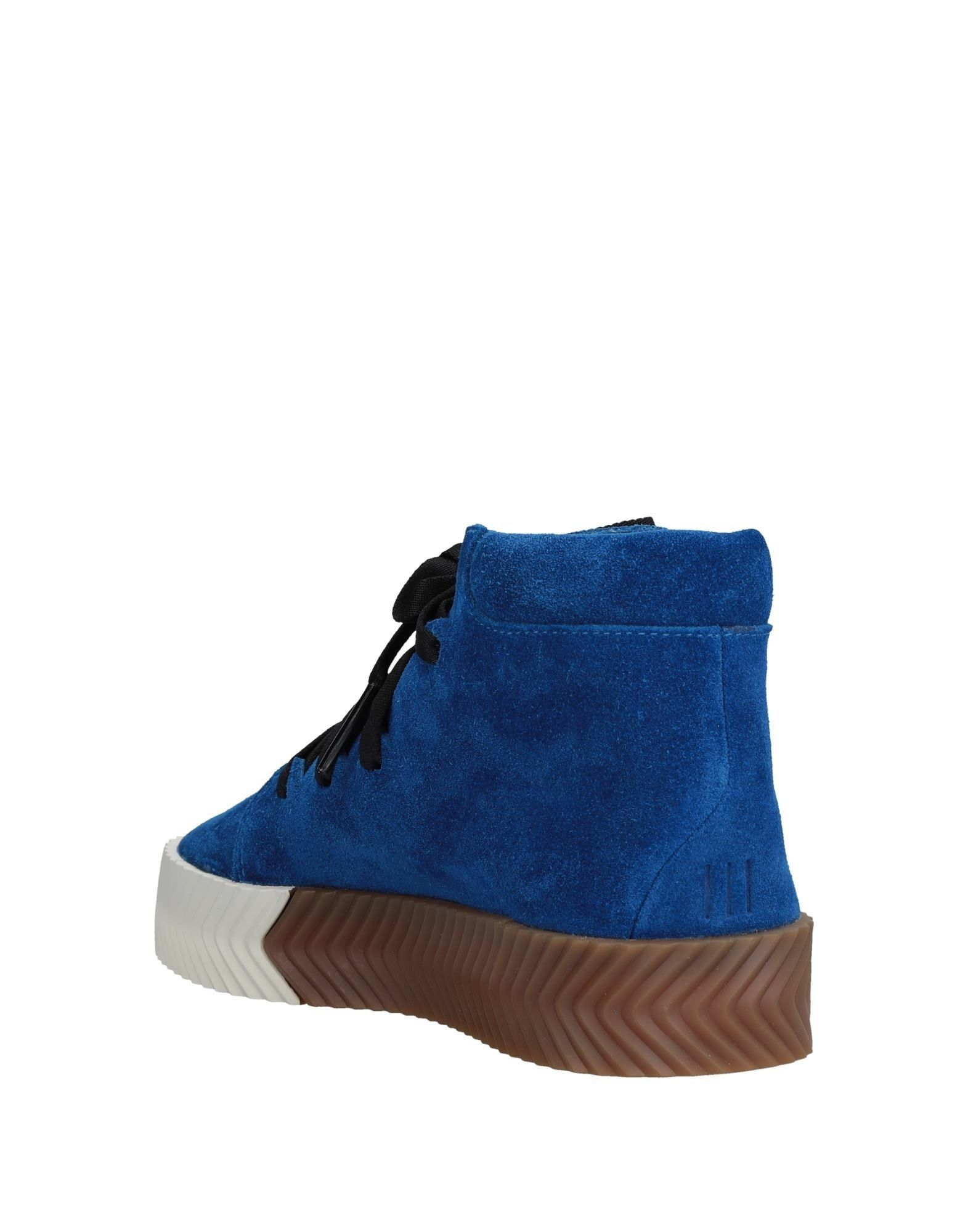 Adidas Bright Blue Leather Sneakers
