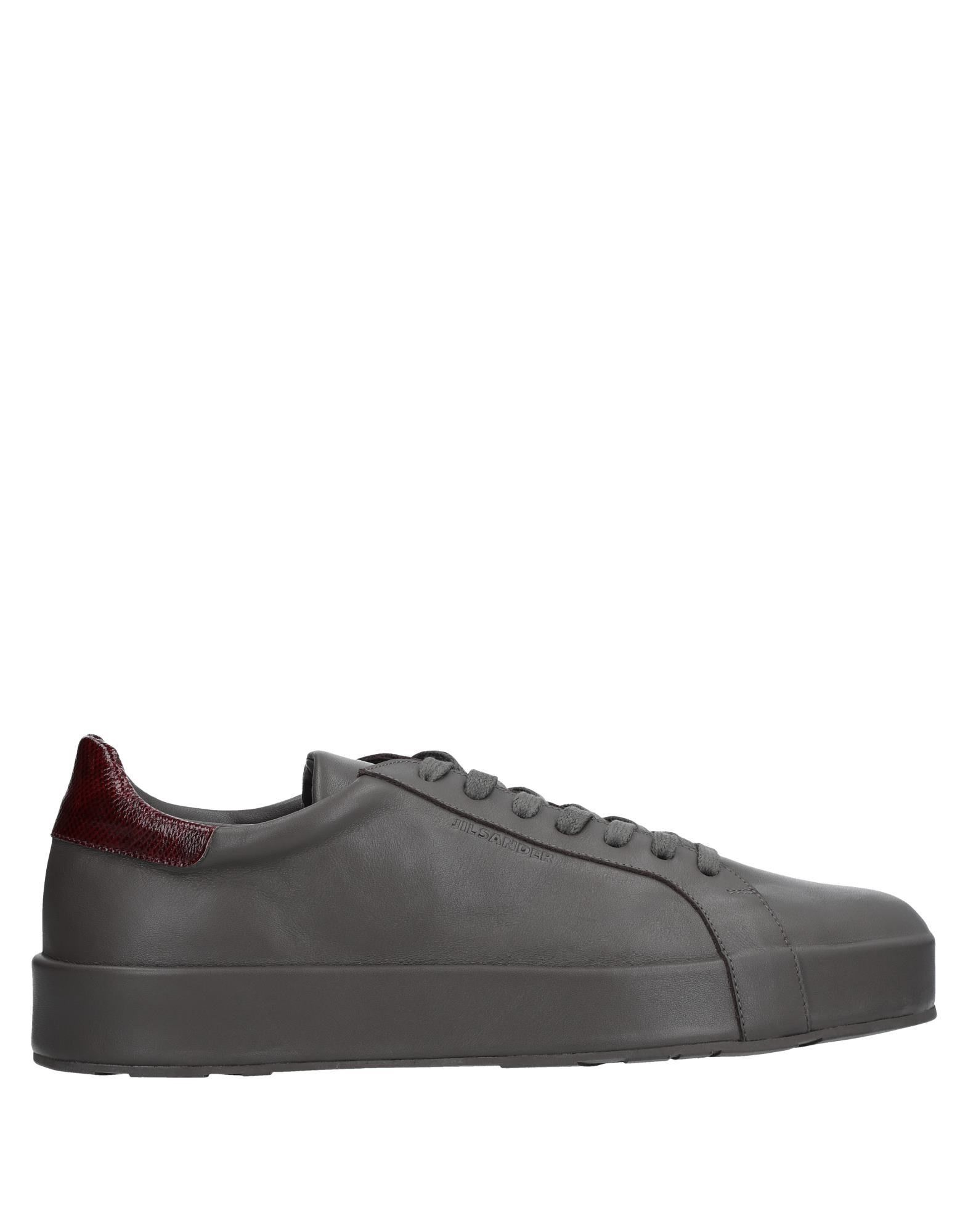 Jil Sander Lead Leather Sneakers