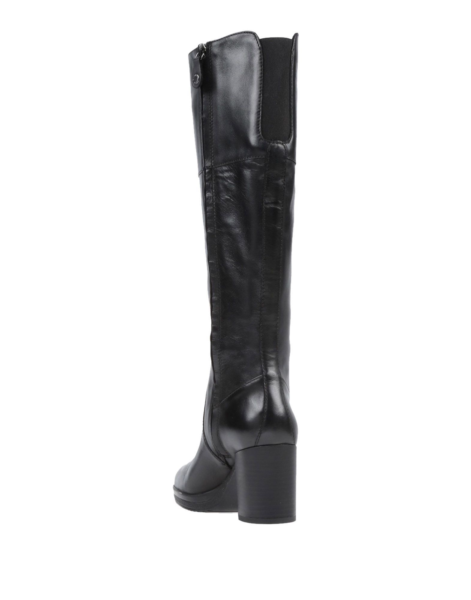 Geox Black Leather Knee High Boots