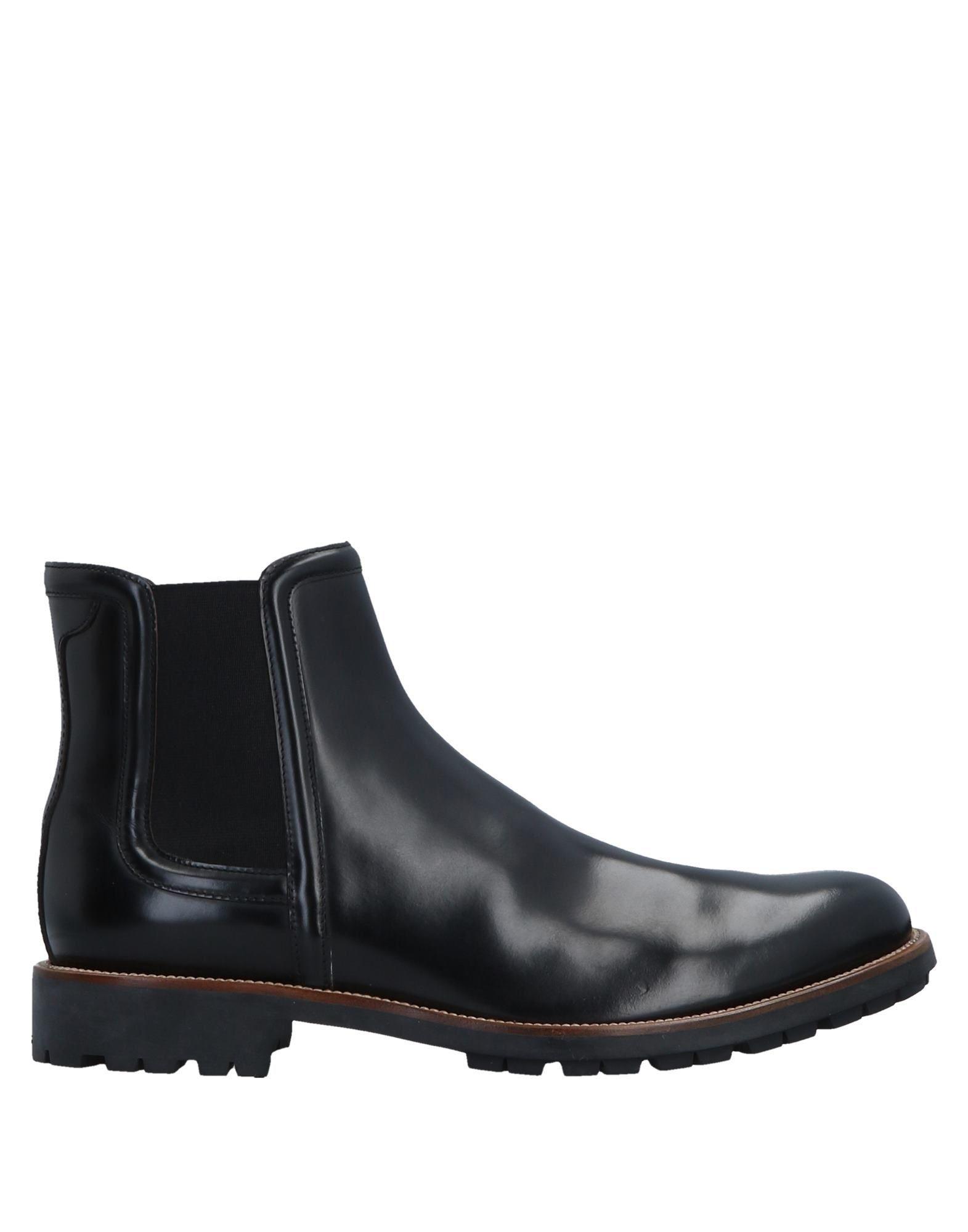 Hogan Black Leather Ankle Boots