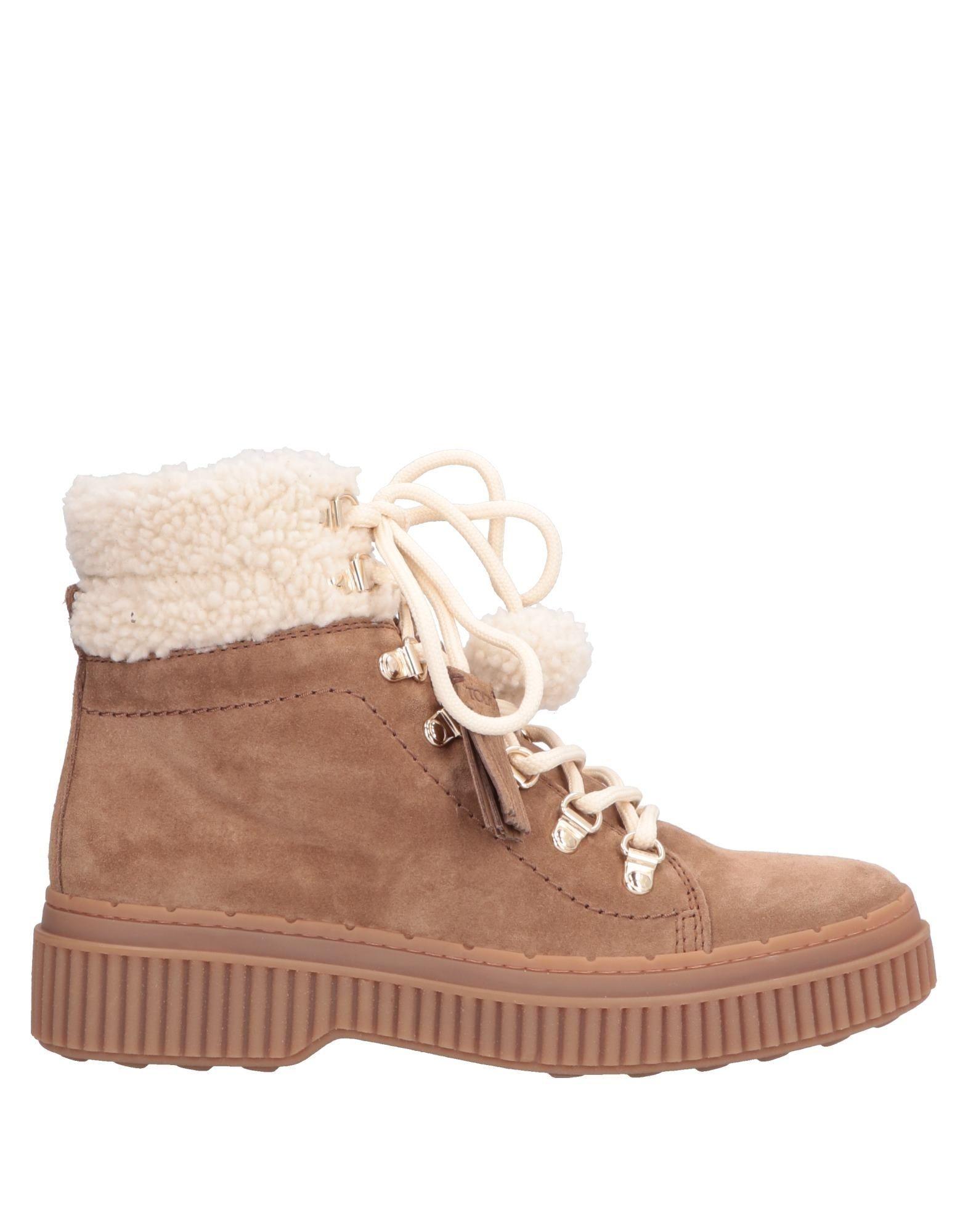 Tod's Khaki Sheepskin Boots