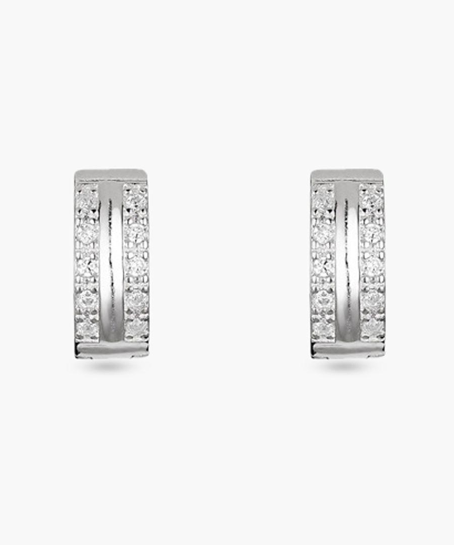 Créolitass silver earrings