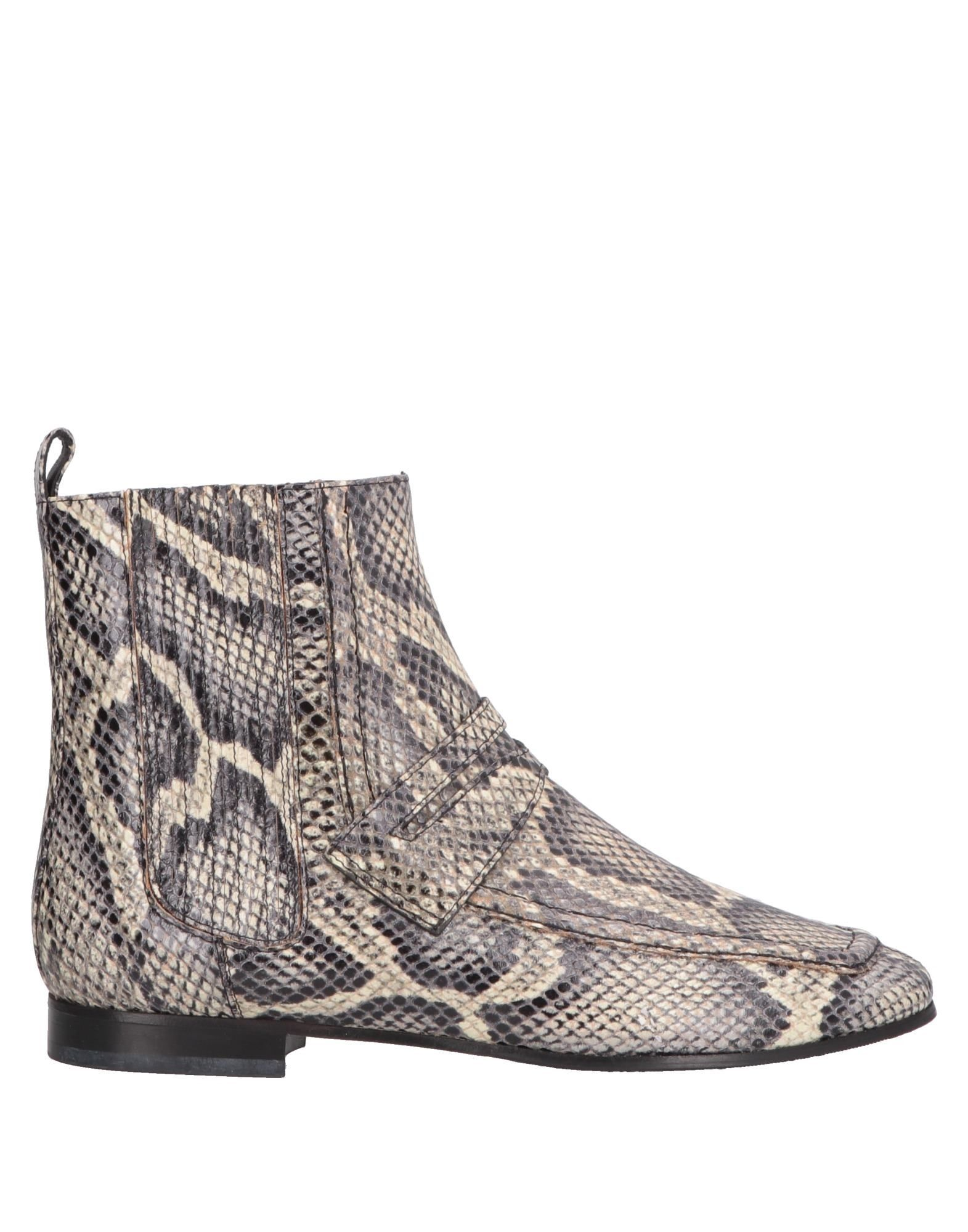 Escada Sport Beige Snakeskin Print Leather Ankle Boots