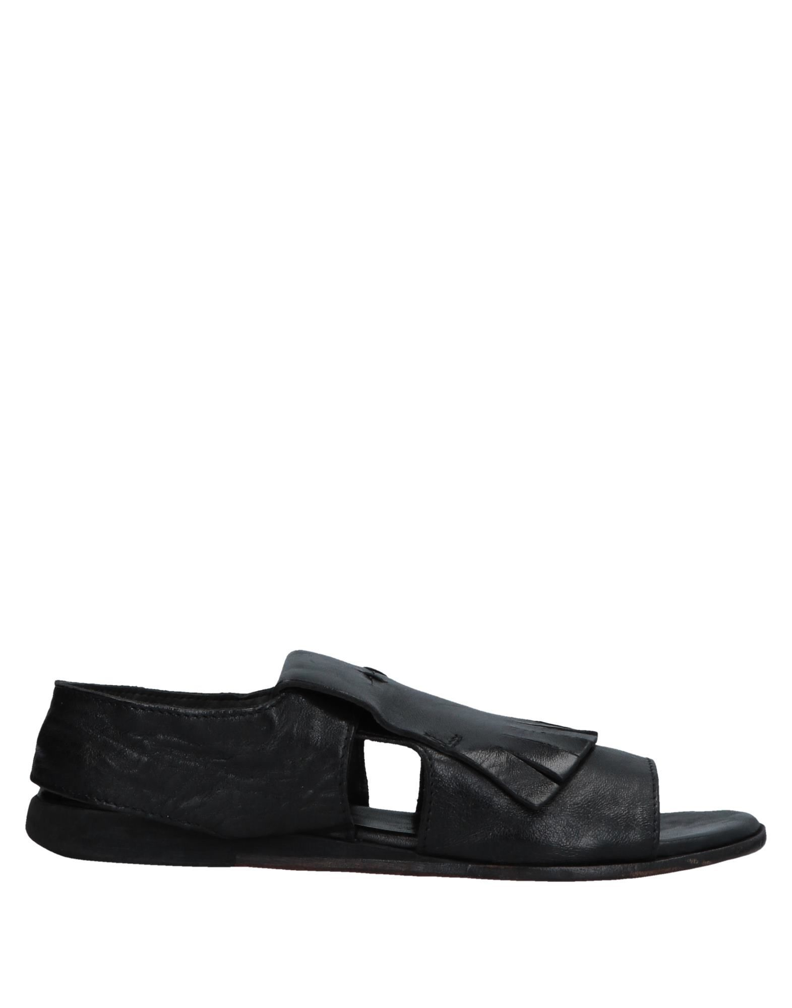 Moma Black Leather Sandals