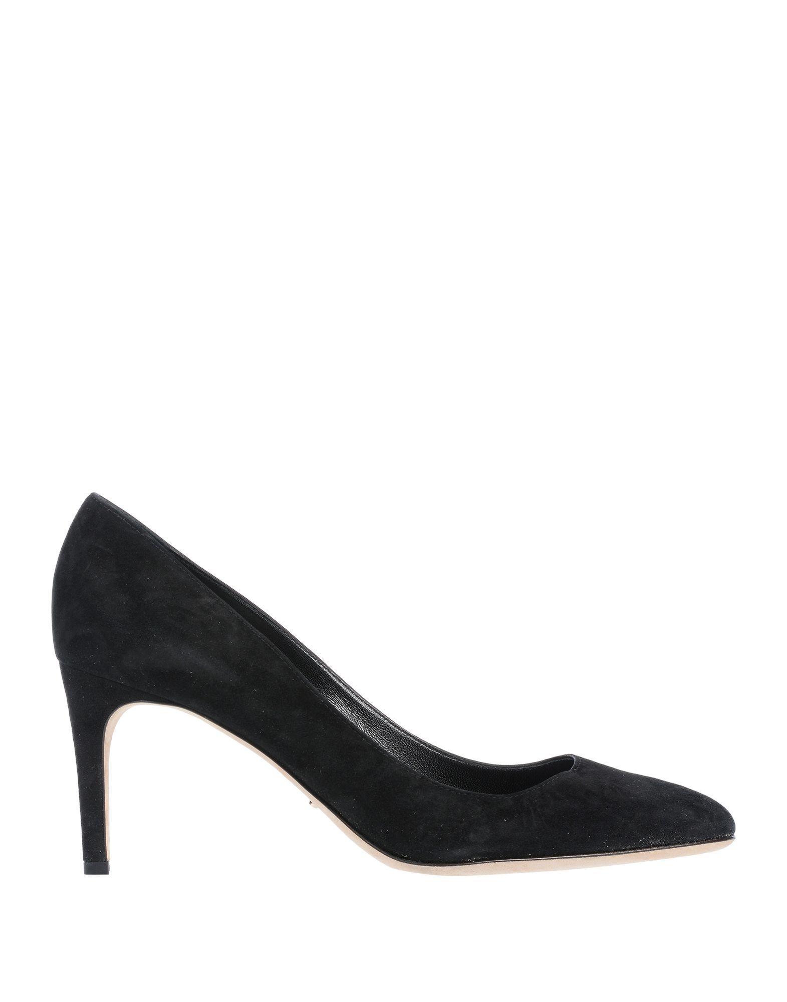 Sergio Rossi Black Leather Court Shoe Heels