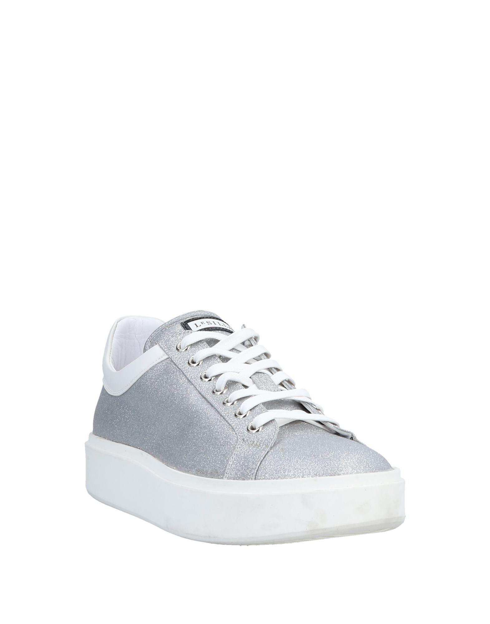 Le Silla Silver Leather Sneakers