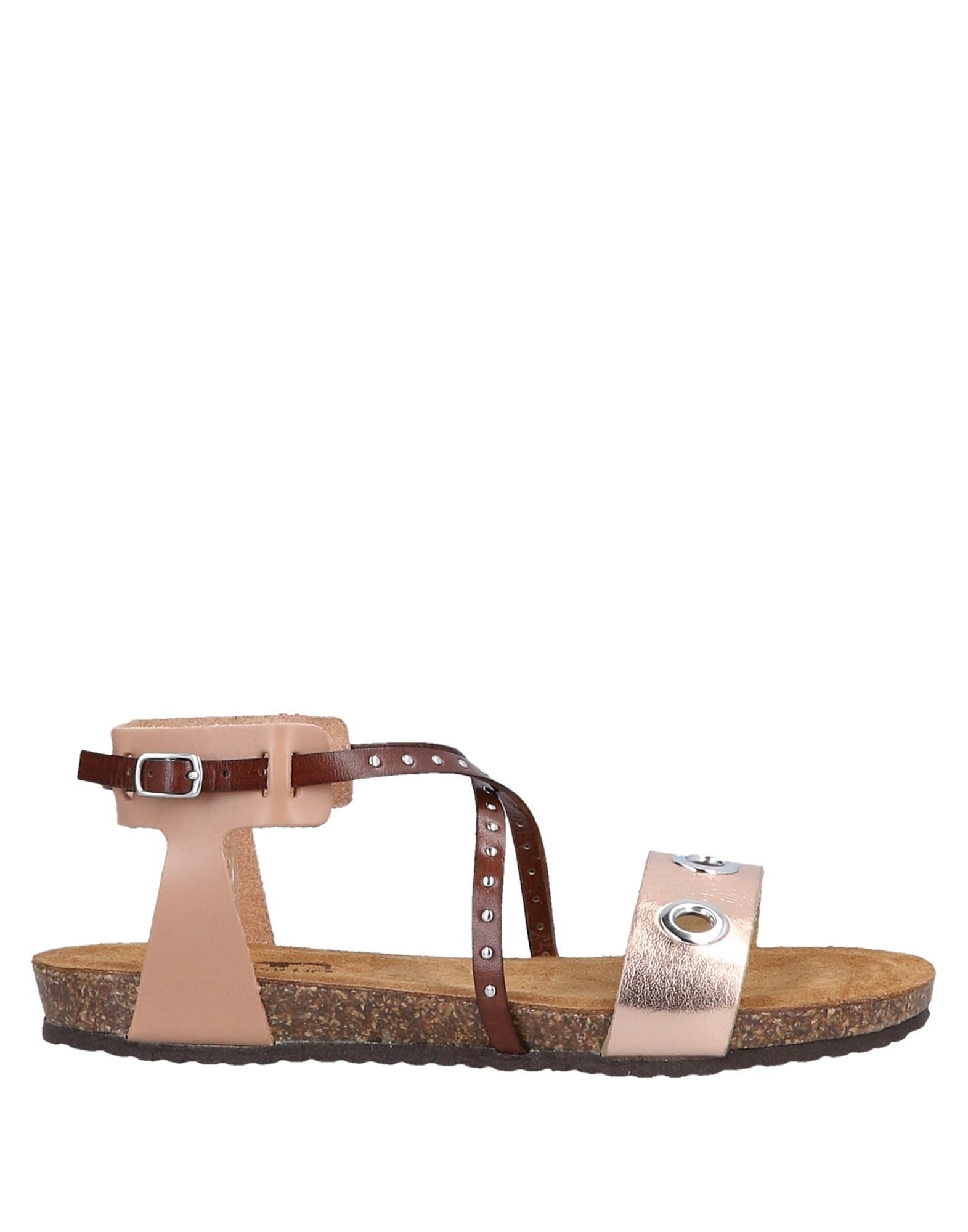 Divine Follie Copper Leather Sandals