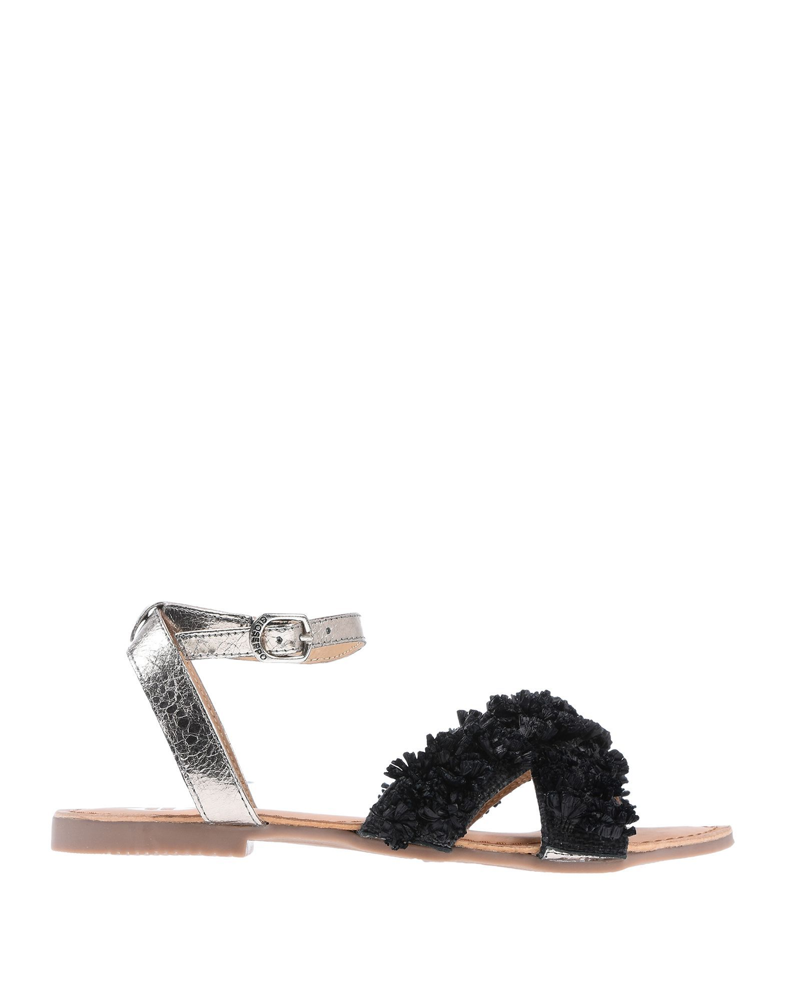 Gioseppo Black Leather Sandals