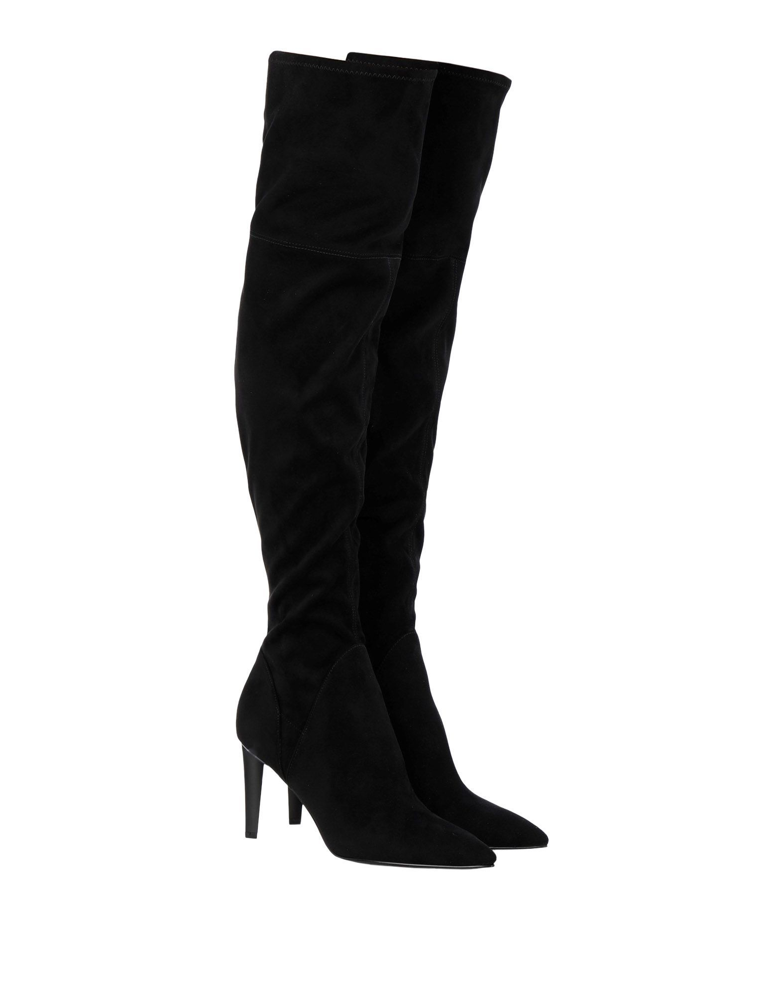 Kendall + Kylie Black Suede Effect Boots