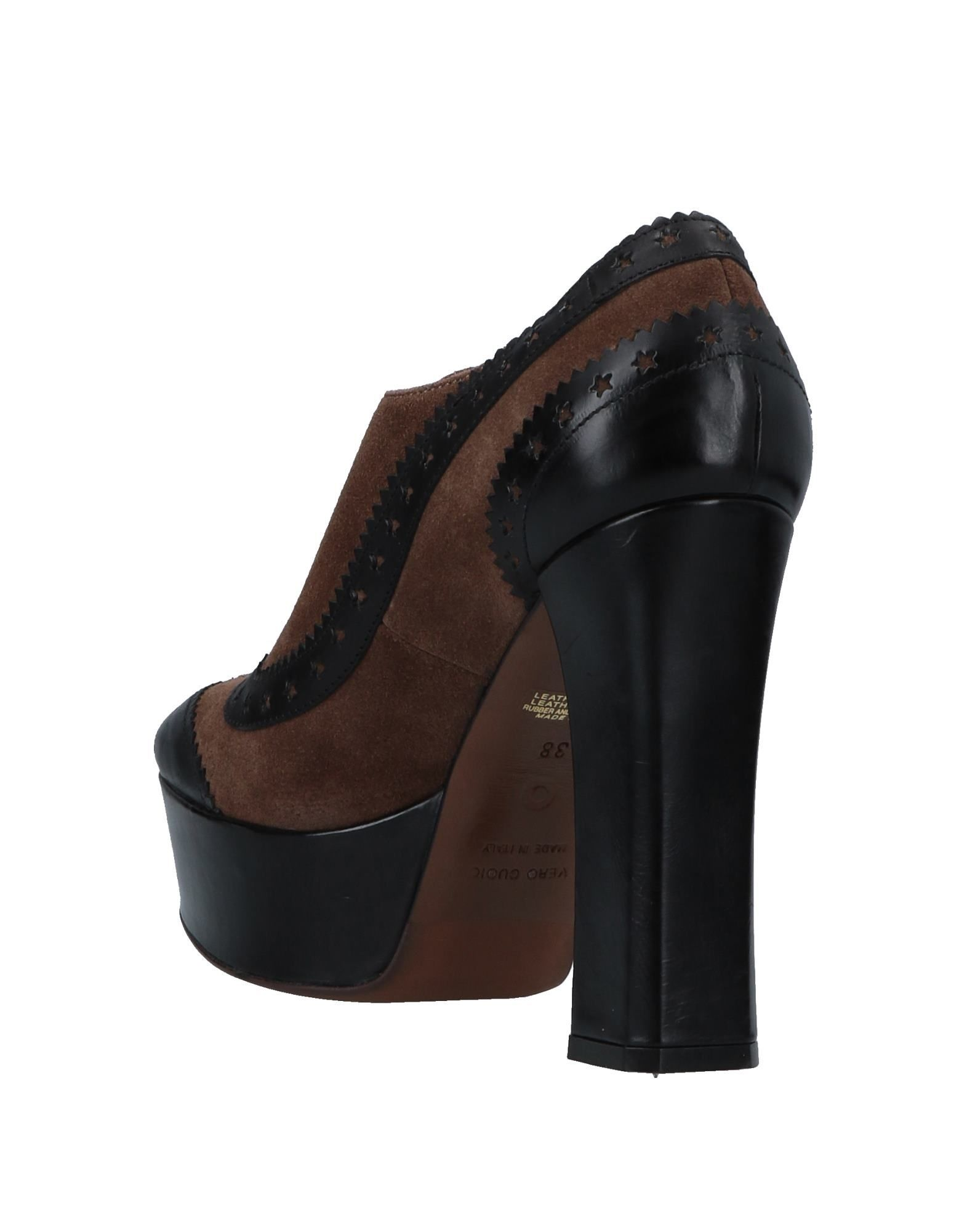 L' Autre Chose Brown Leather Lace Up Heels