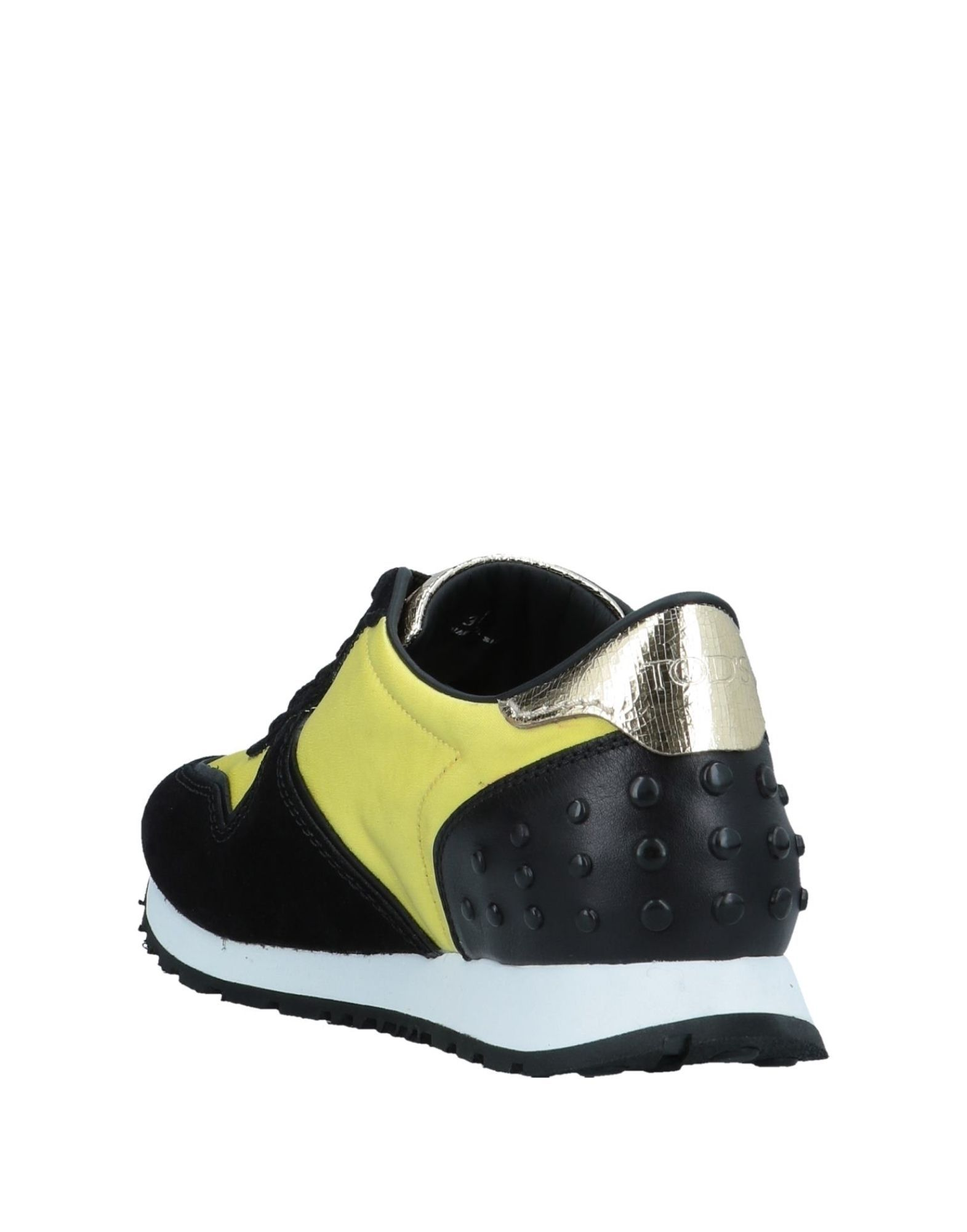 Tod's Yellow Leather Sneakers