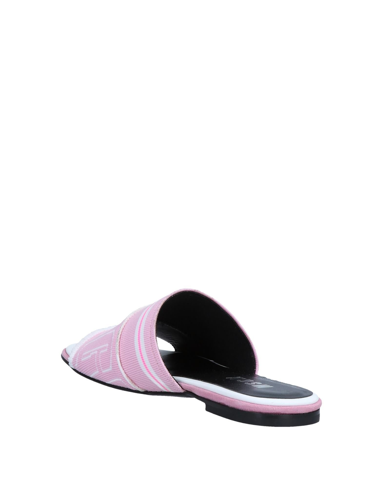 MSGM Pink Logo Sandals