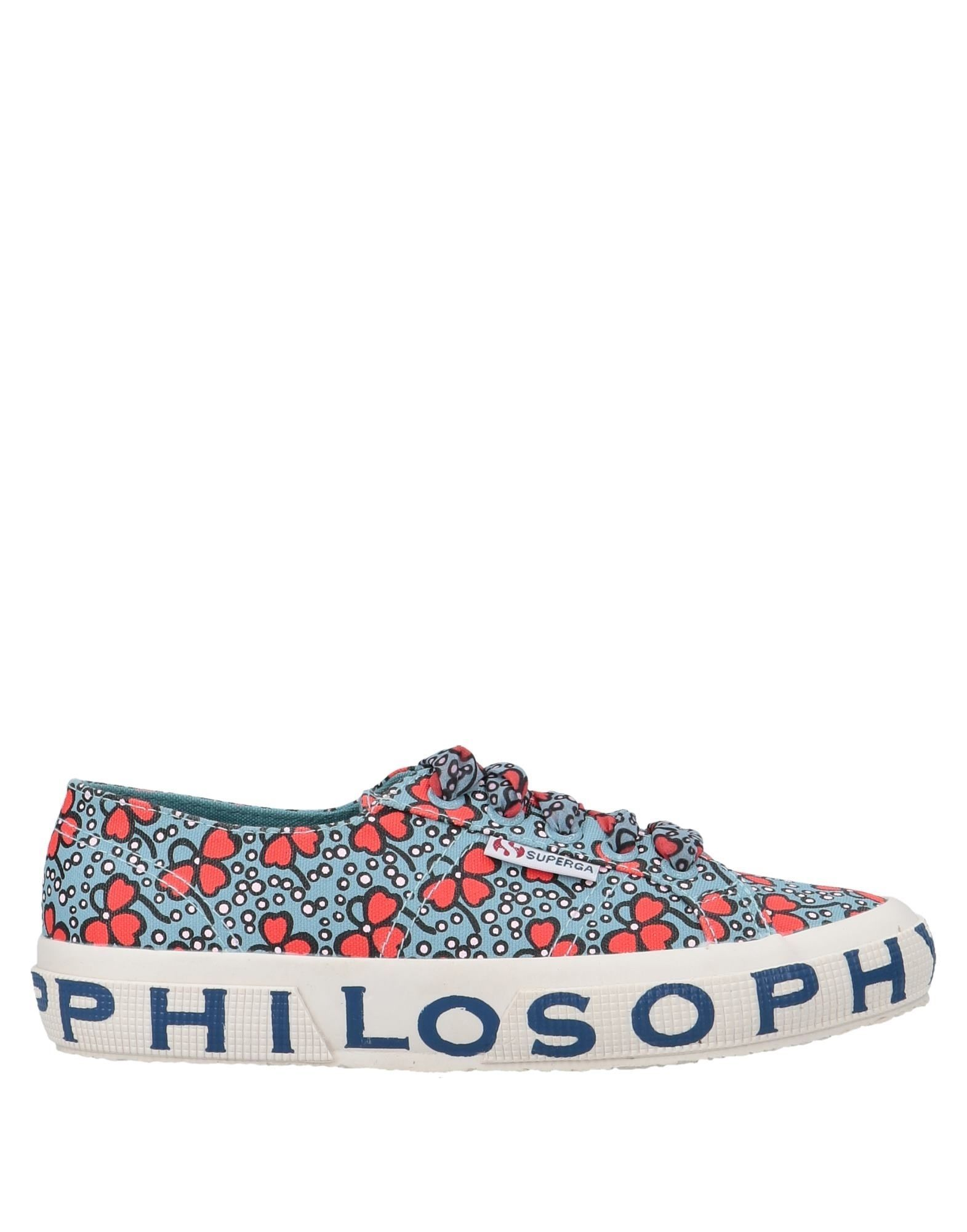 Superga X Philosophy Di Lorenzo Serafini Azure Floral Design Cotton Canvas Sneakers