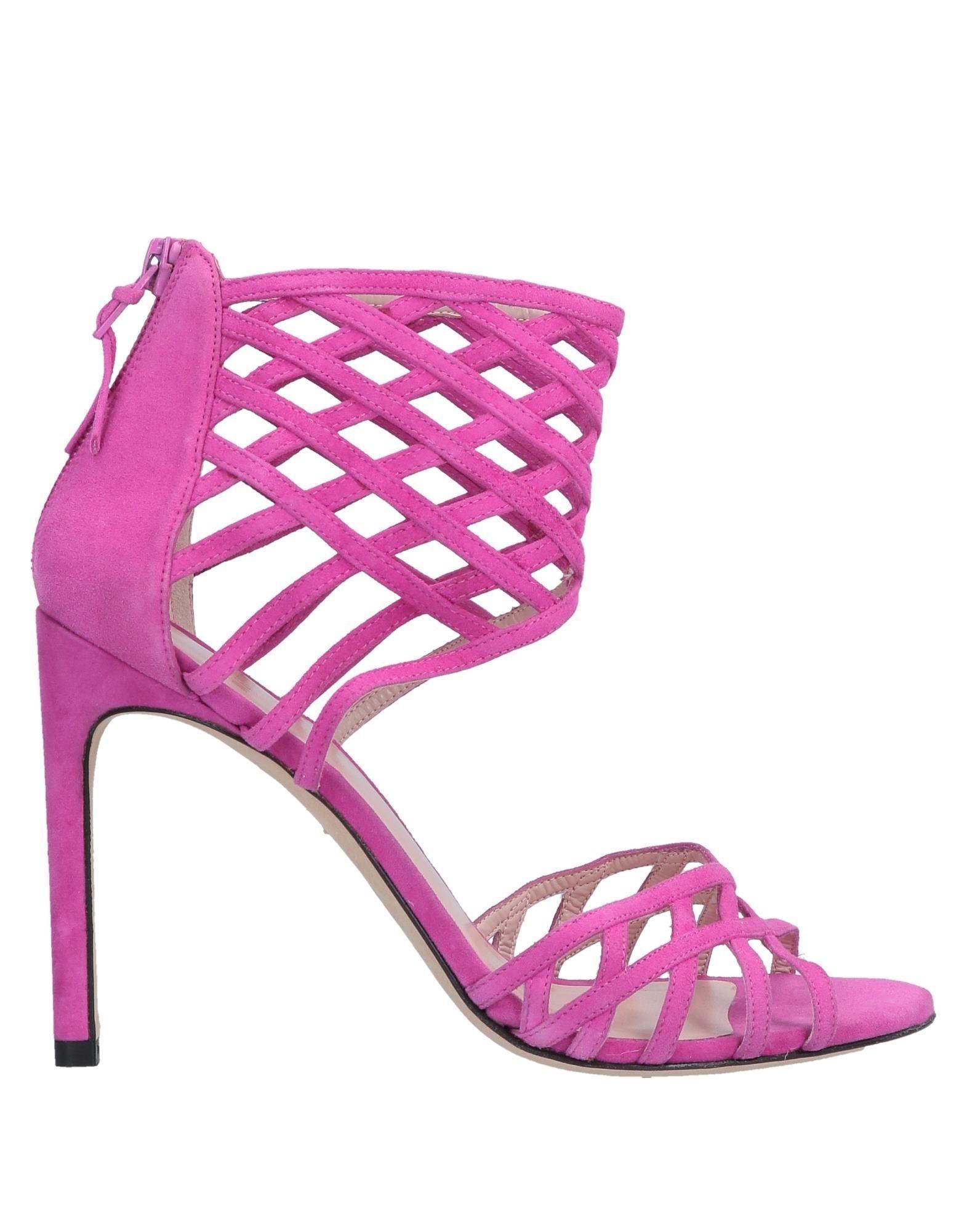 Stuart Weitzman Fuchsia Leather Sandals