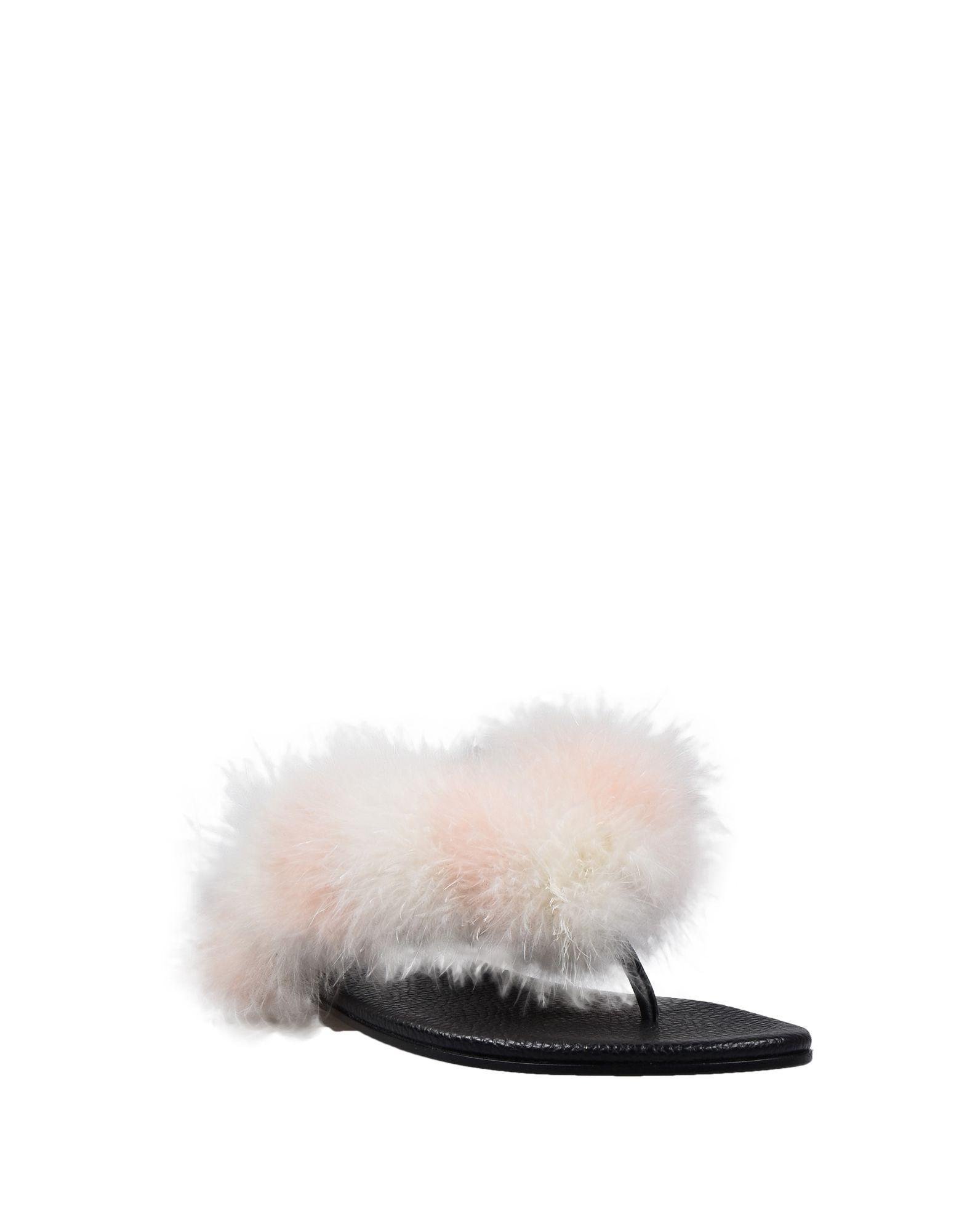 Avec Moderation Ivory Marabou Sandals