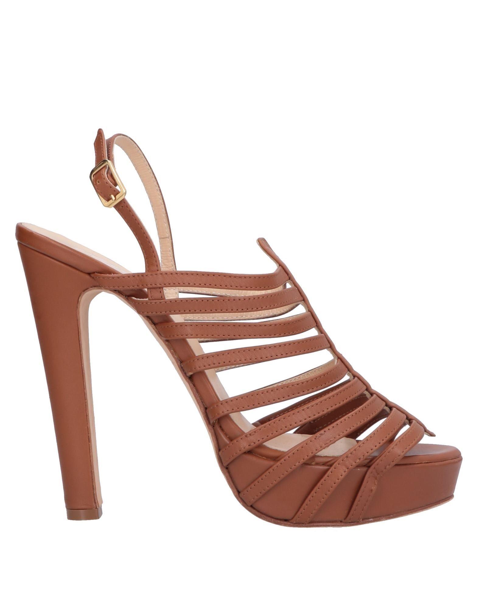 Blugirl Blumarine Brown Leather Sandals