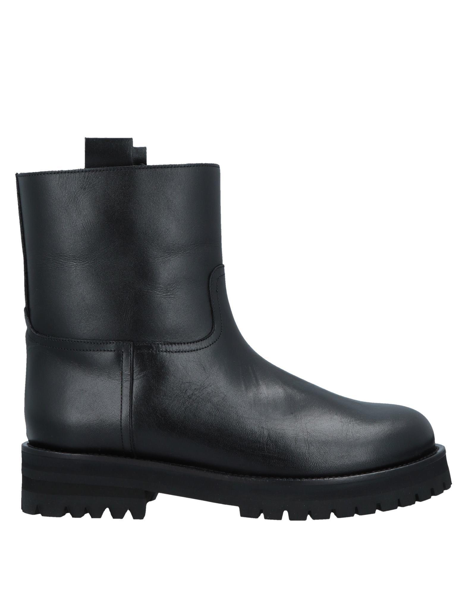 L' Autre Chose Black Calf Leather Ankle Boots