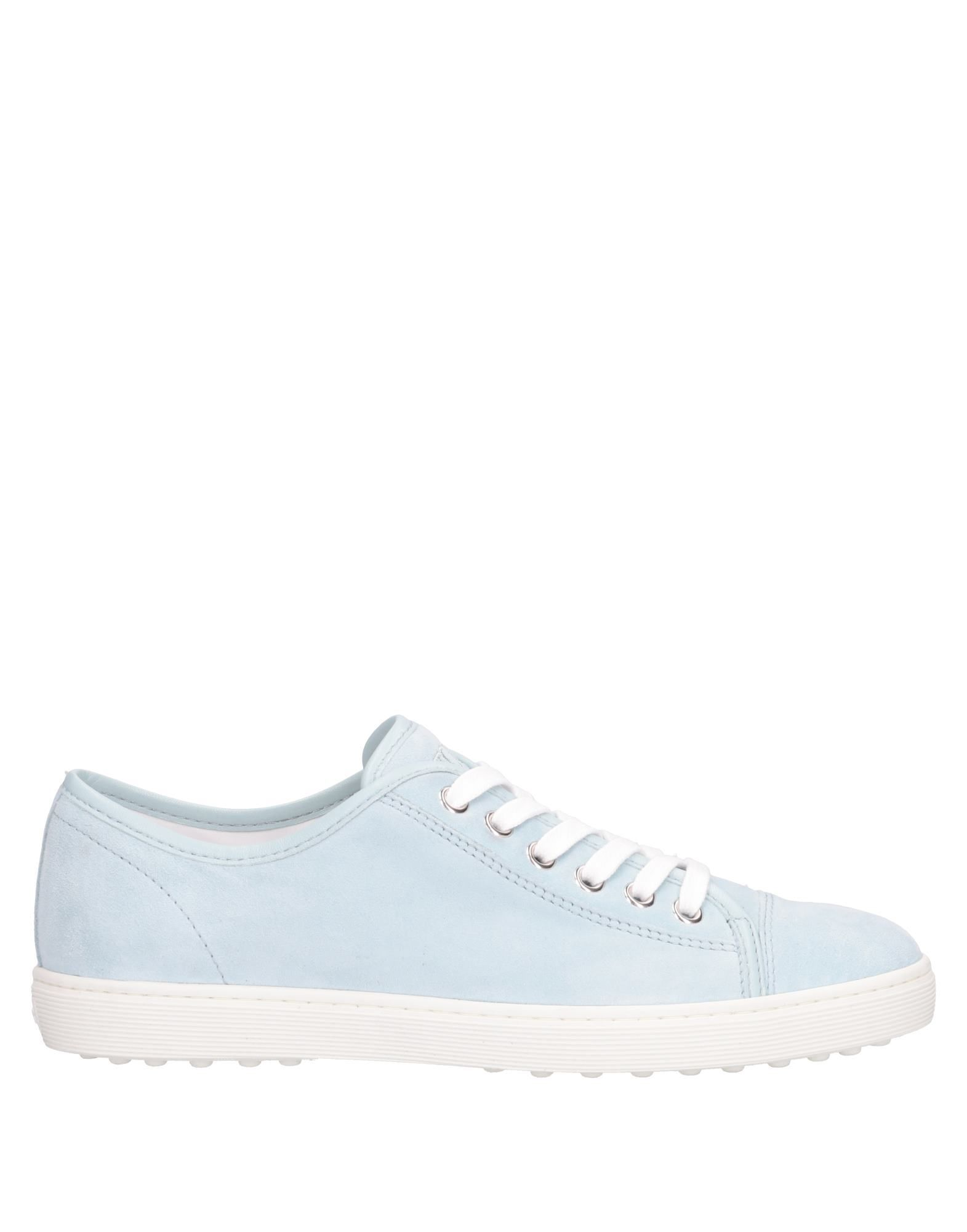 Tod's Sky Blue Leather Sneakers