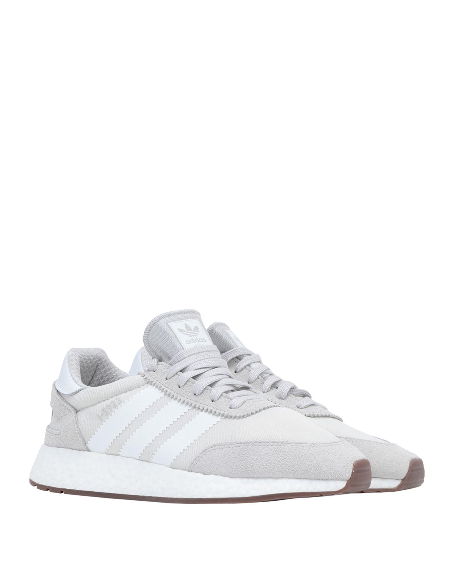 Adidas Originals Light Grey Leather Sneakers