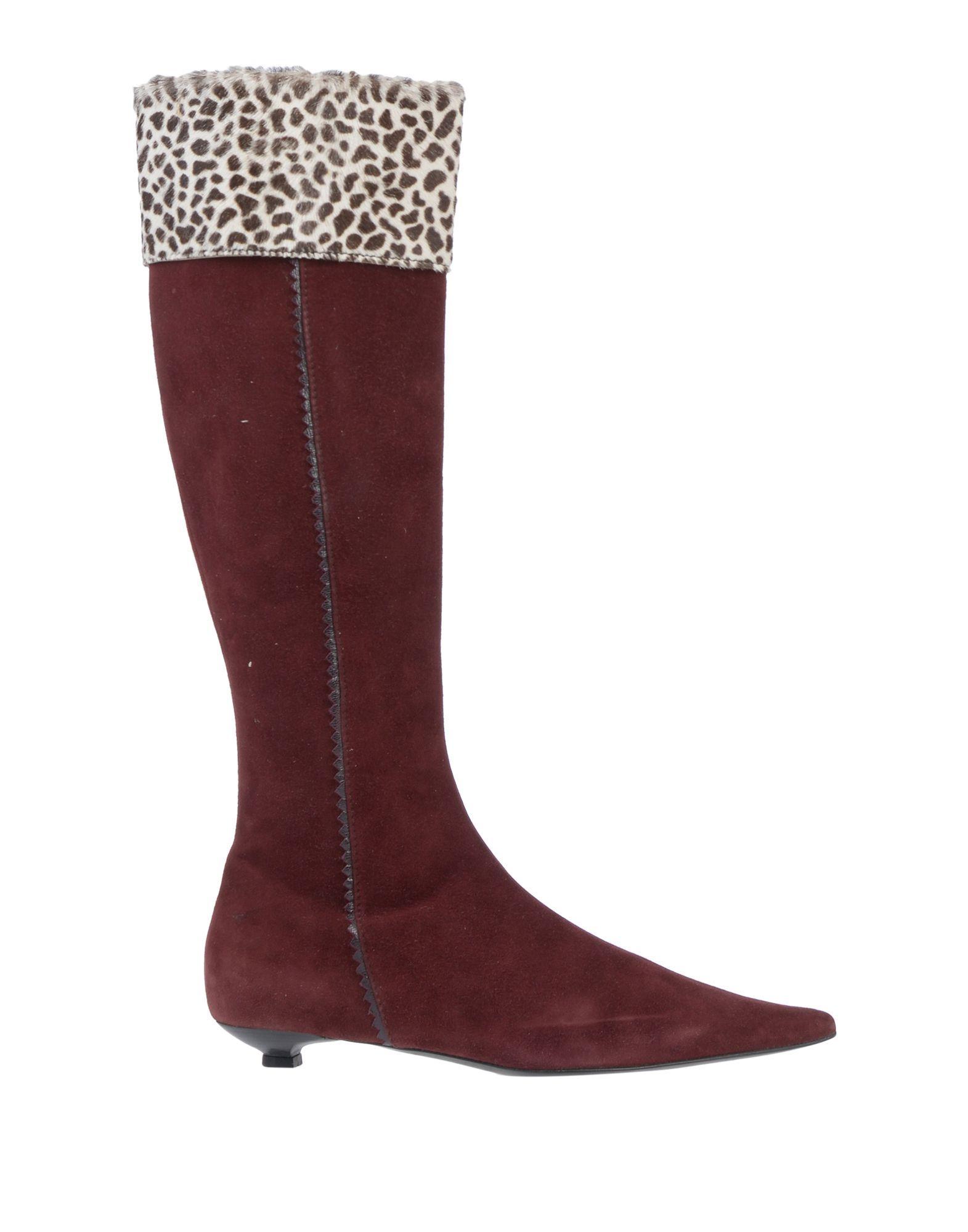 Missoni Women's Boots Maroon Leather