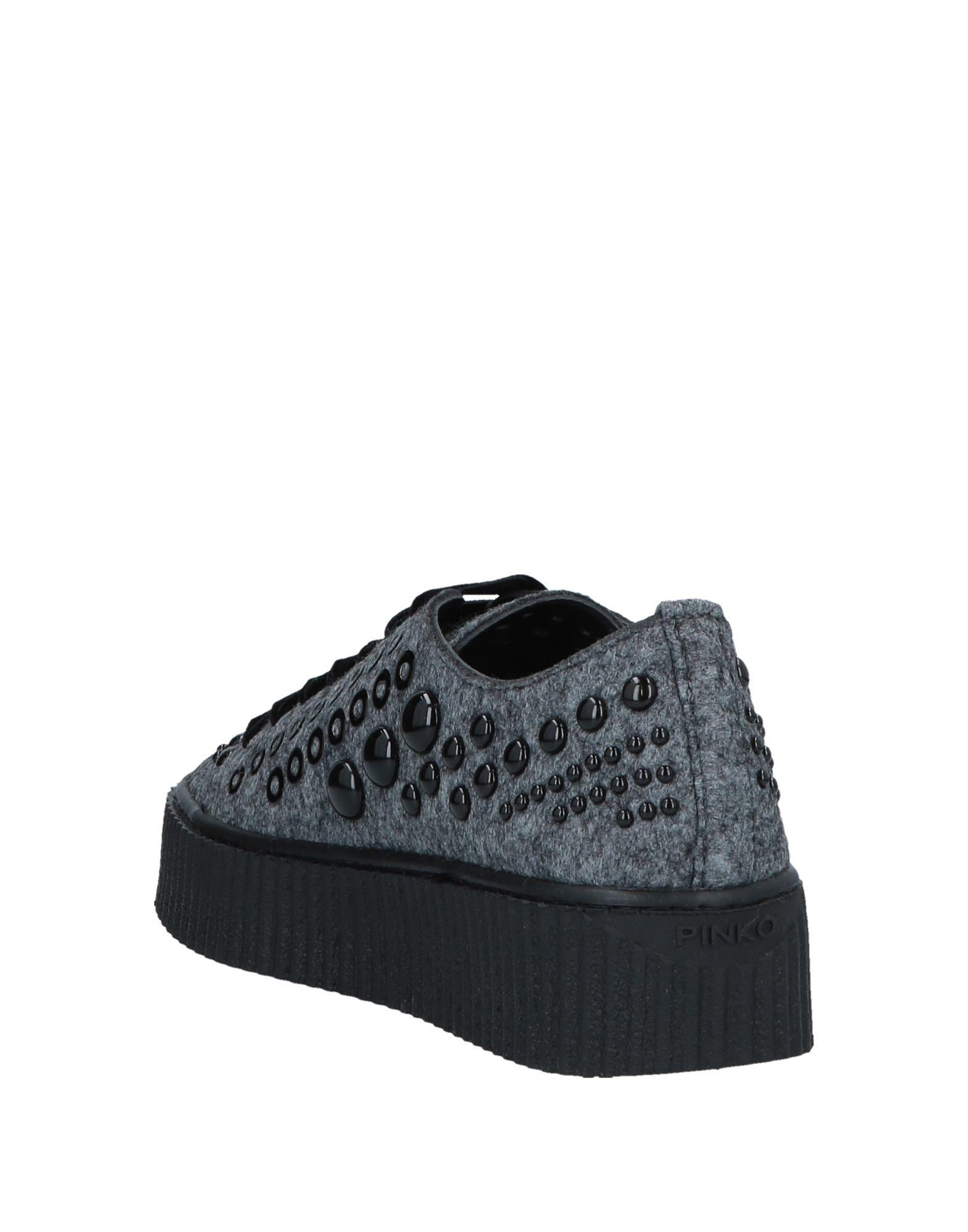 Pinko Grey Studded Sneakers