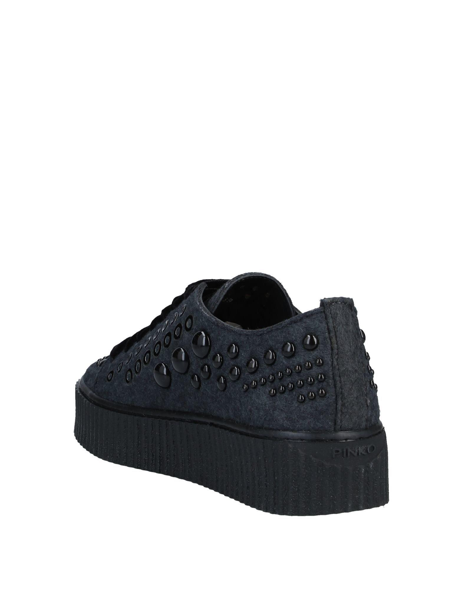 Pinko Steel Grey Studded Sneakers