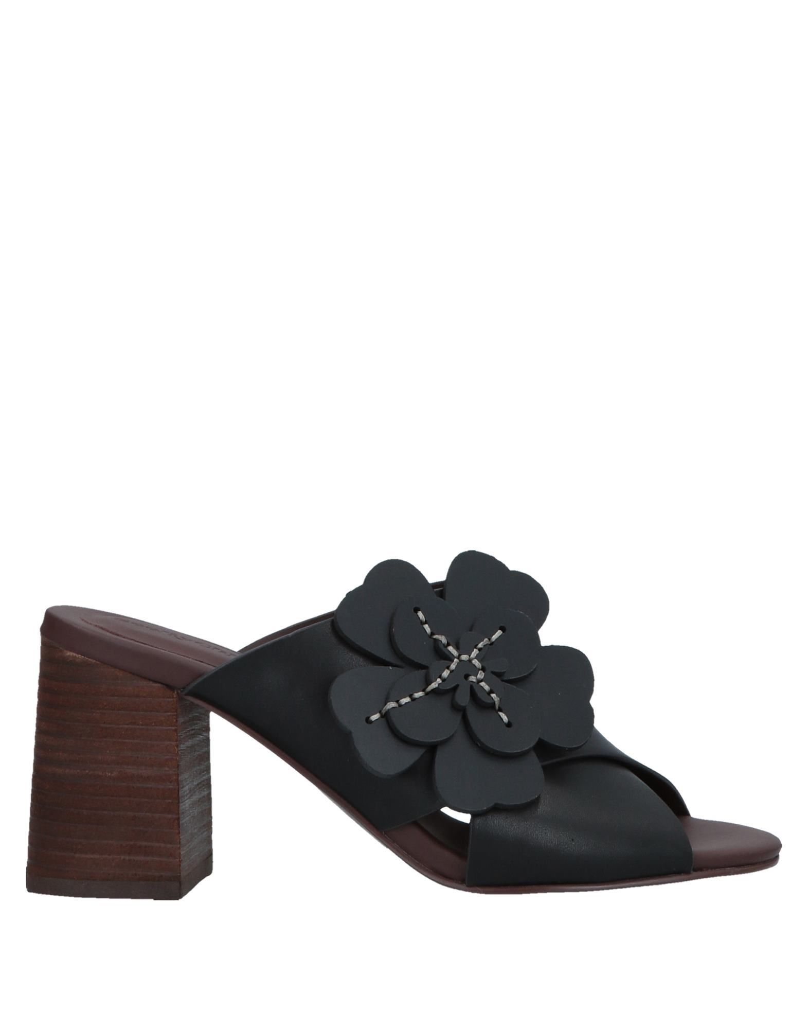 See By Chloe Black Leather Sandals