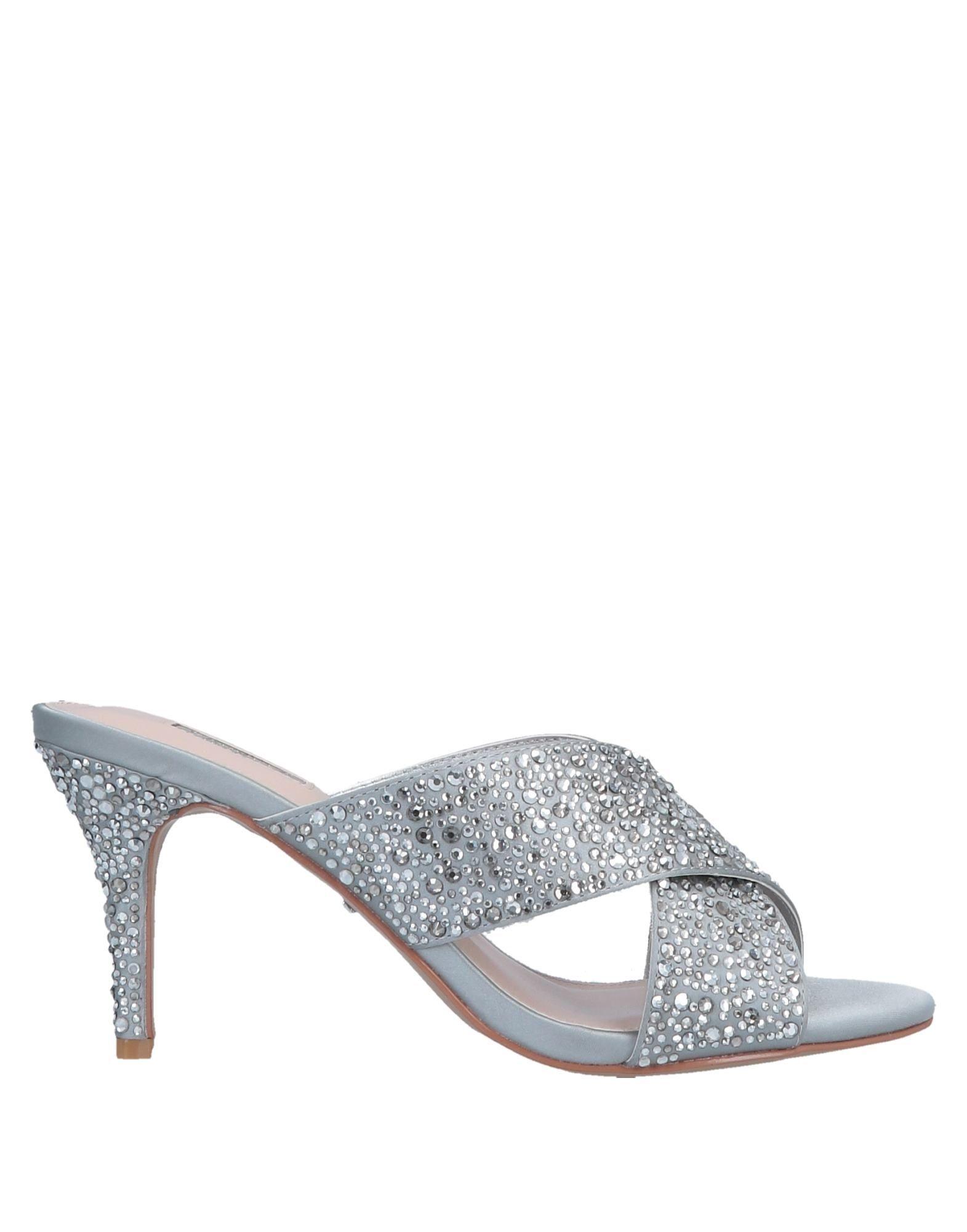 Carvela Silver Embellished Heeled Mules