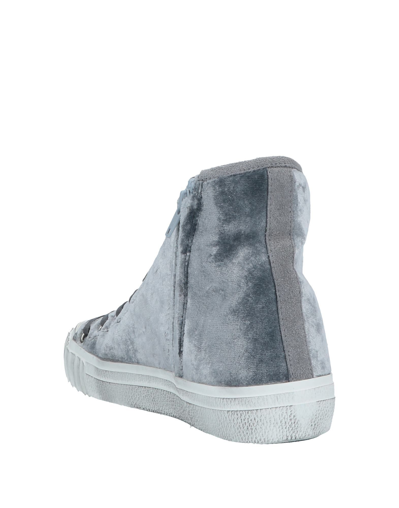 Philippe Model Women's High-Top & Sneakers Grey Textile Fibres
