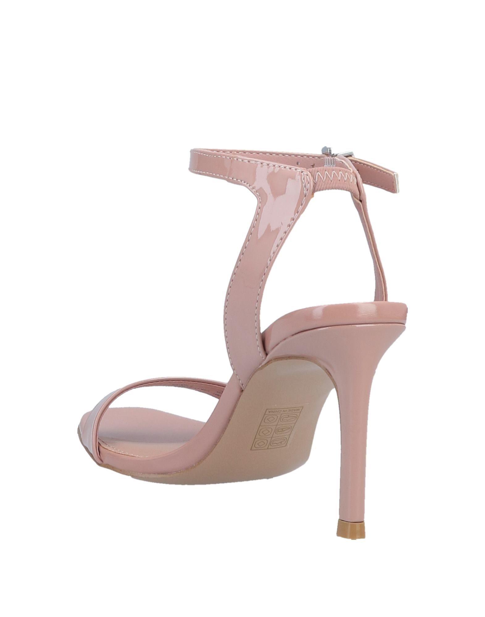 Steve Madden Pale Pink Leather Heeled Sandals