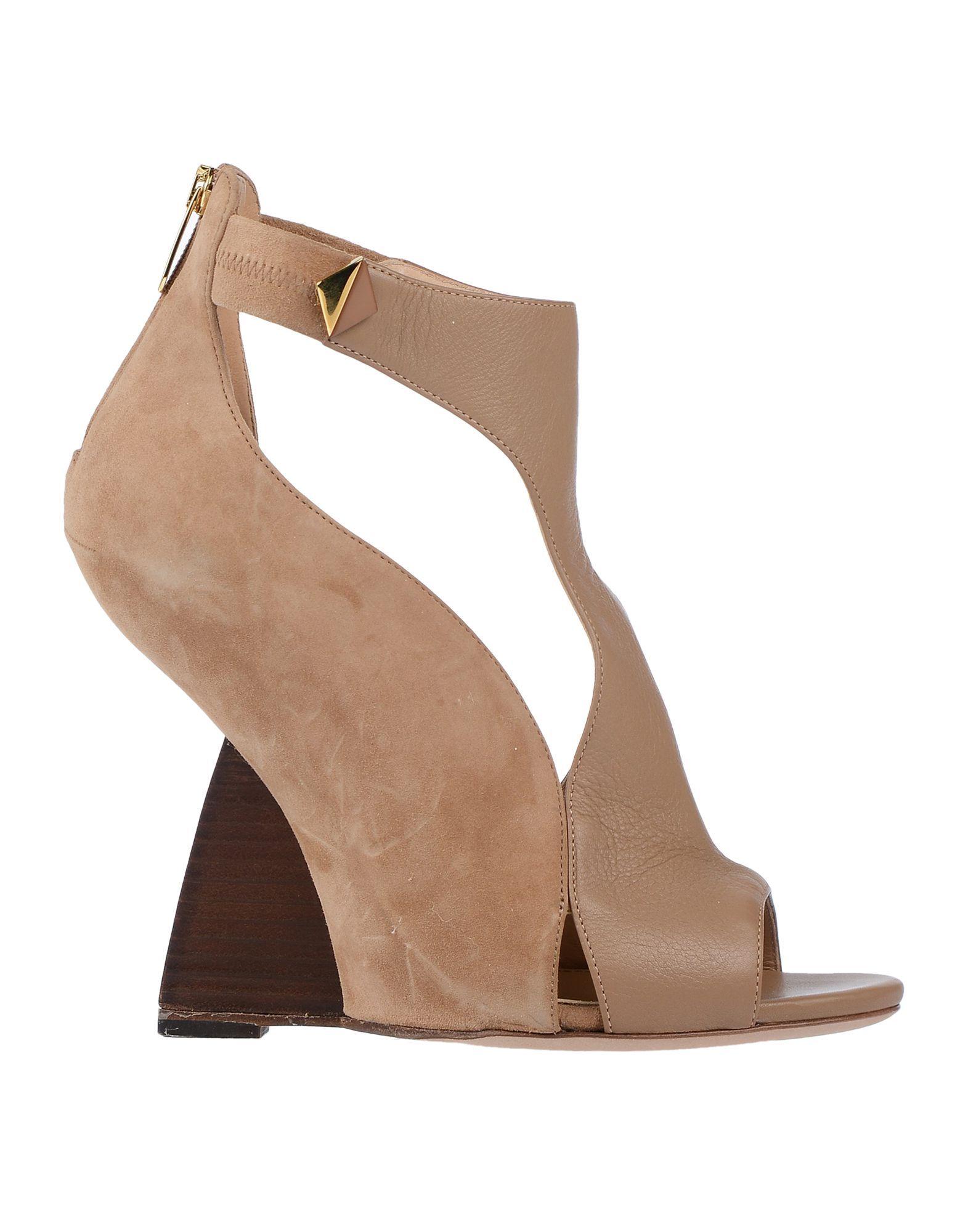 Sergio Rossi Camel Leather Heels