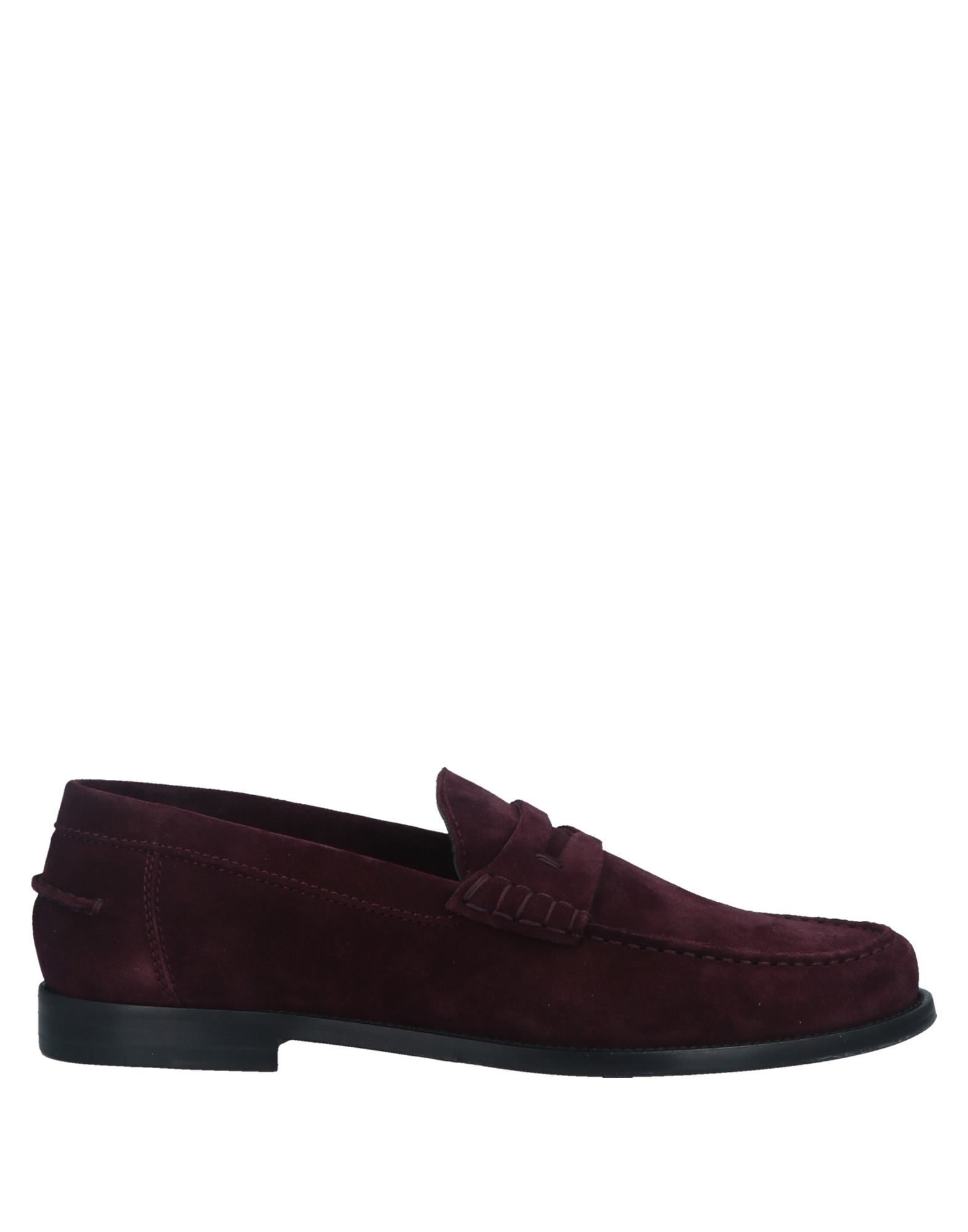 Sergio Rossi Garnet Leather Loafers
