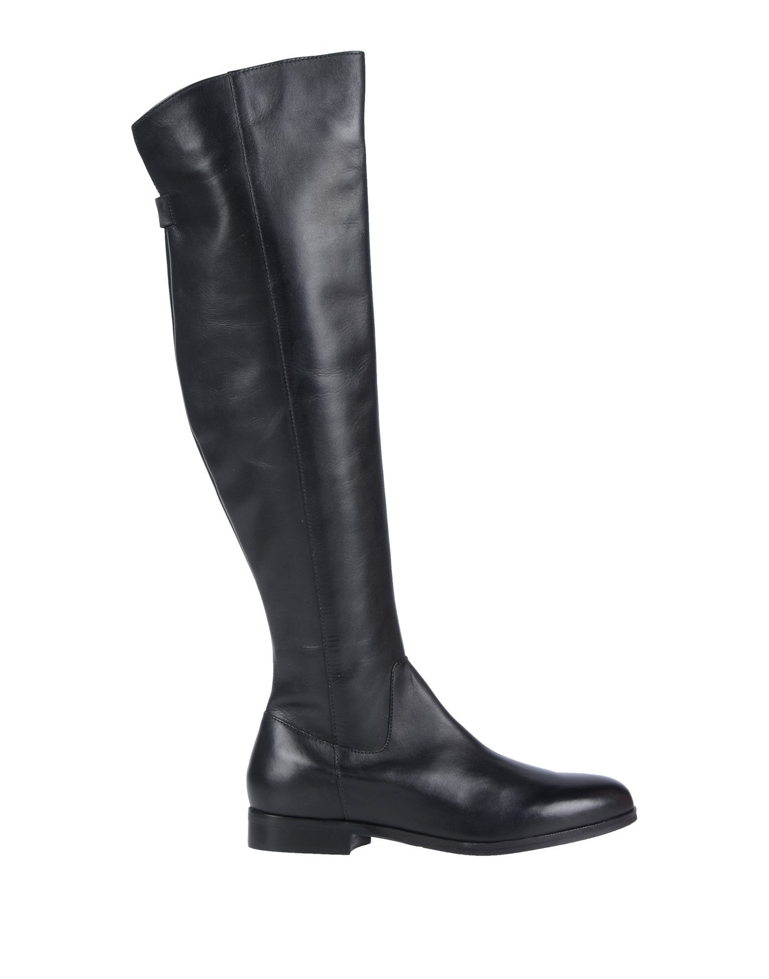 Cafenoir Black Leather Knee High Boots