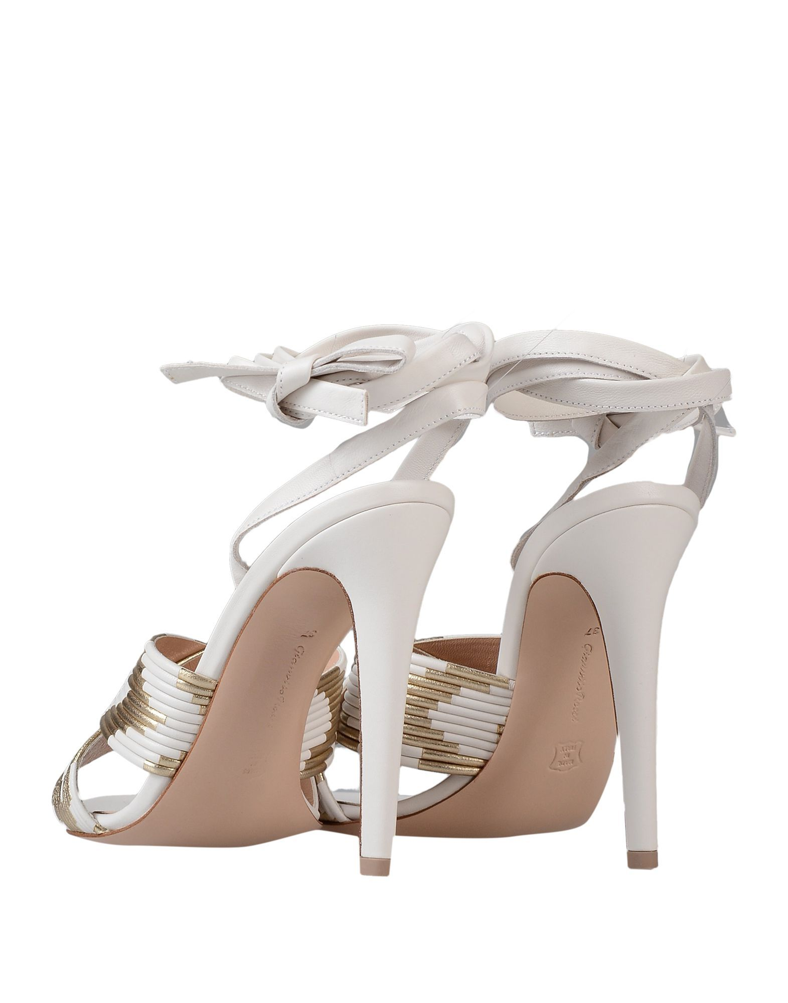 Gianvito Rossi White Leather Heeled Sandals