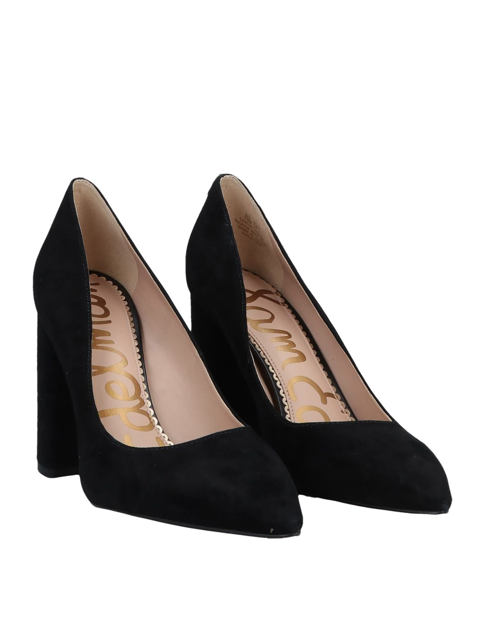 Sam Edelman Black Leather Court Shoe Heels