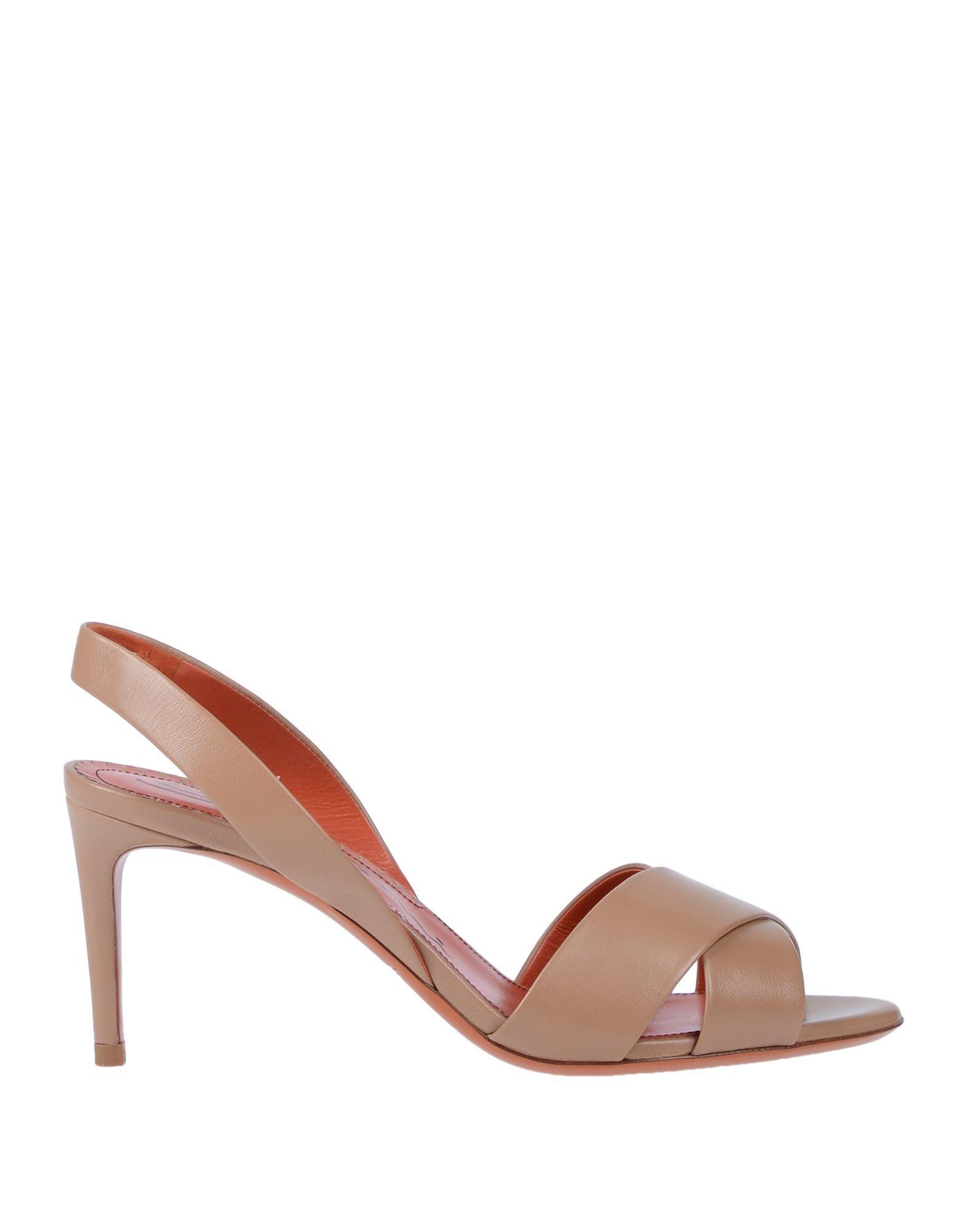 Santoni Pale Pink Leather Slingback Heels