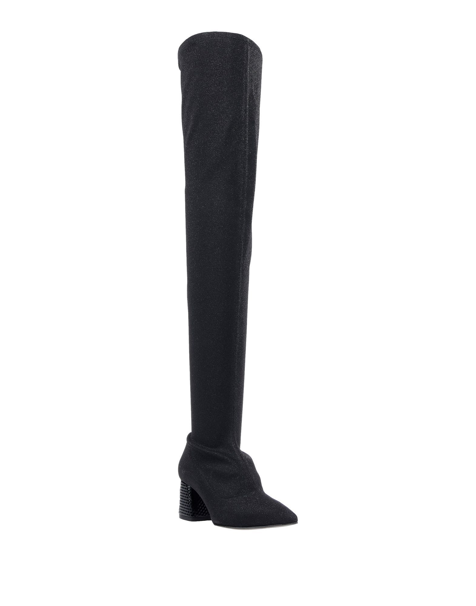 Pollini Black Over The Knee Boots