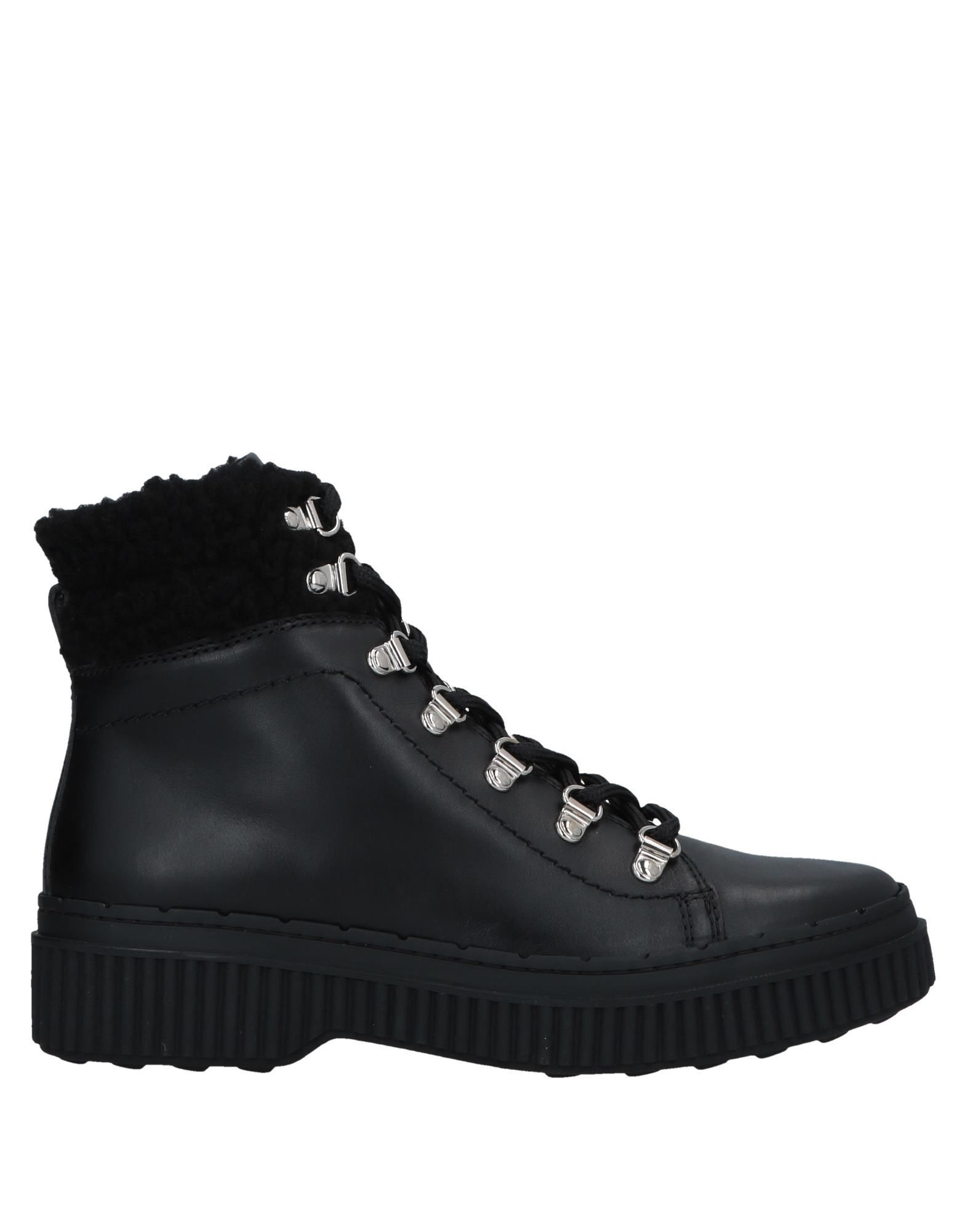 Tod's Black Calf Leather Lace Up Boots