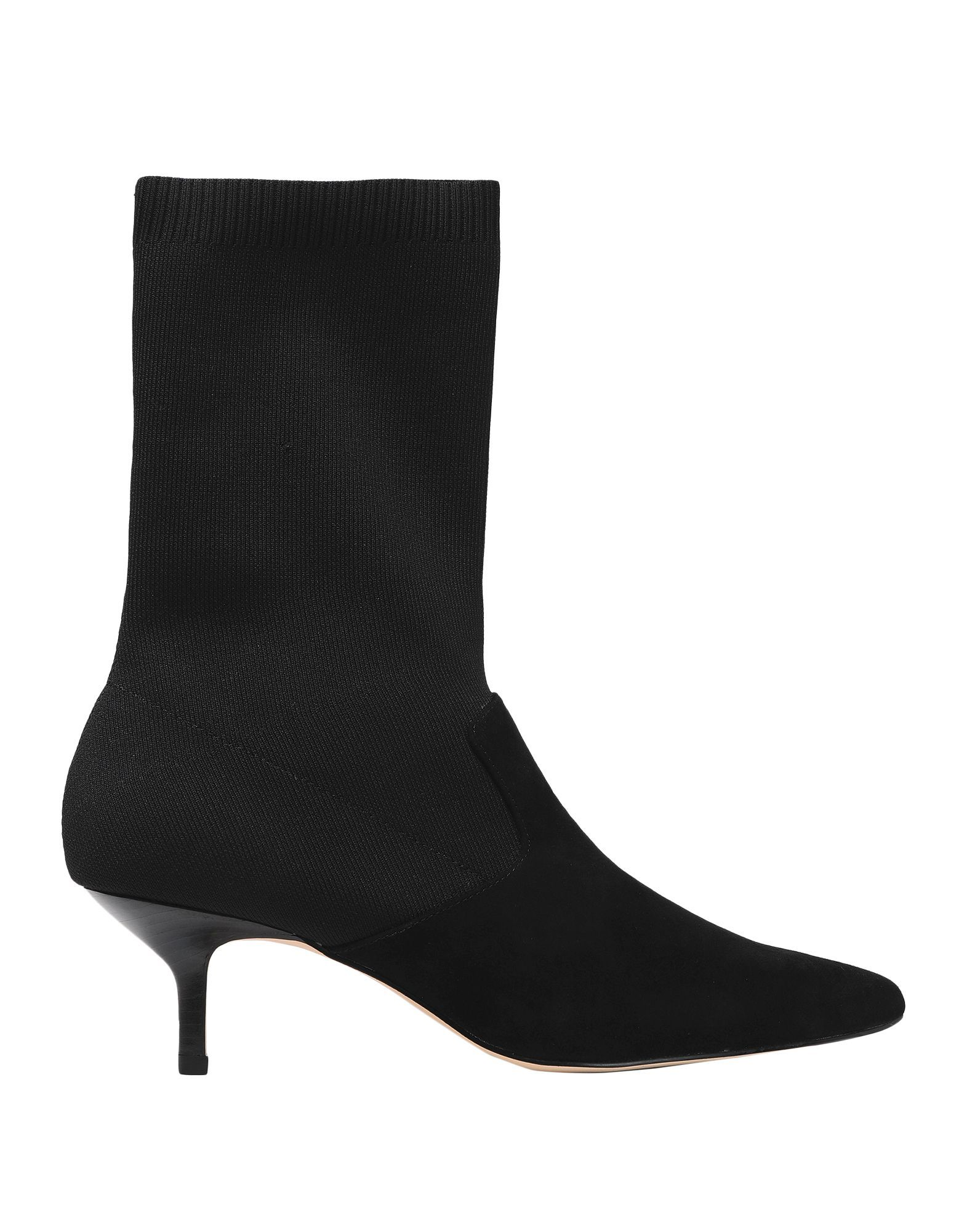 Halston Black Leather Ankle Boots