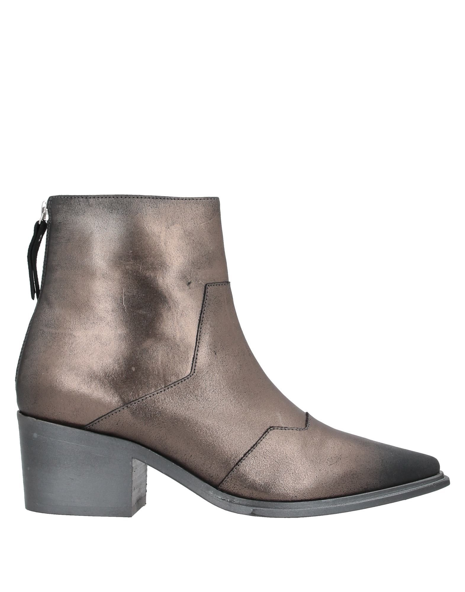 Vic Matie Women's Ankle Boots Bronze Leather