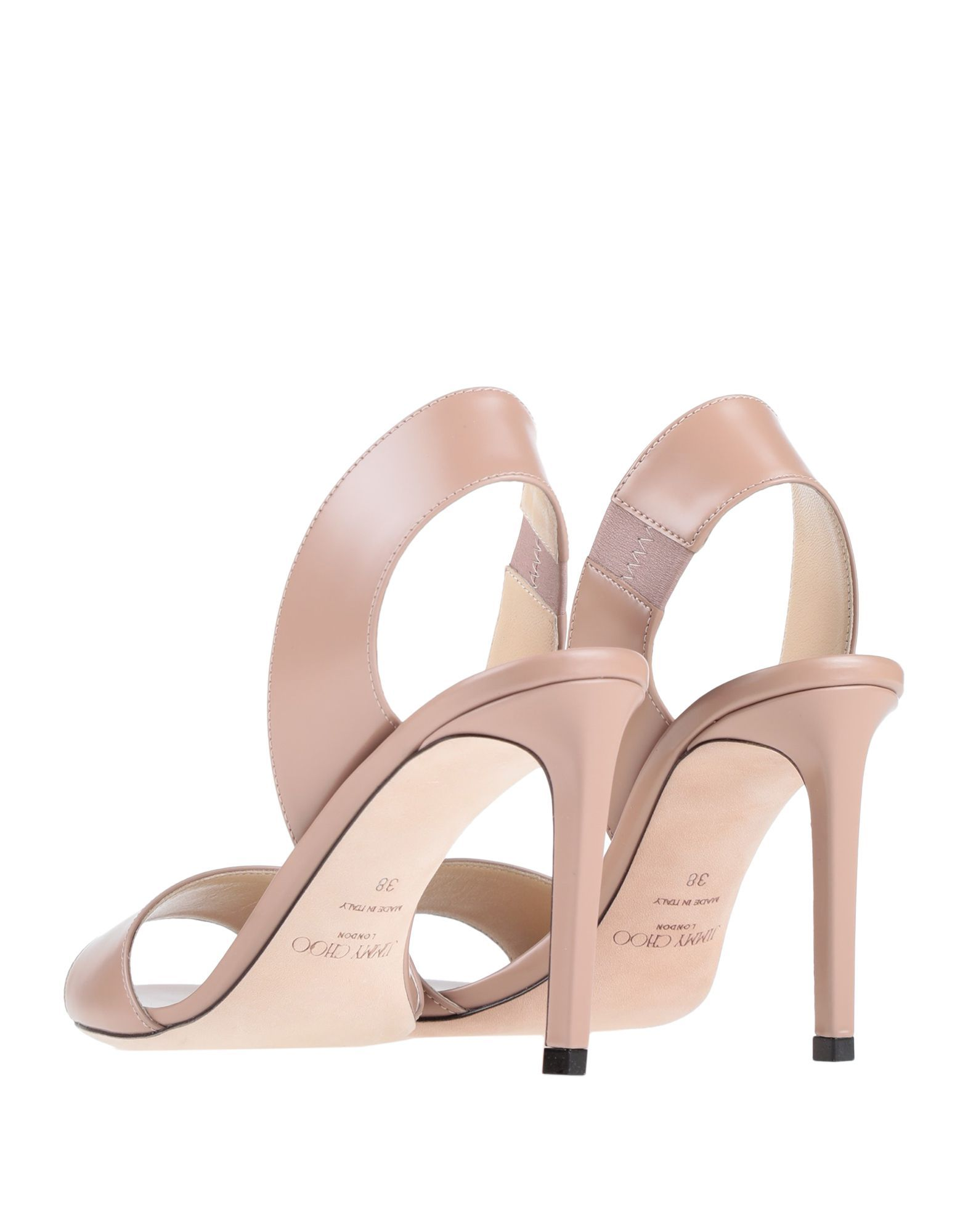 Jimmy Choo Pale Pink Leather Heeled Sandals