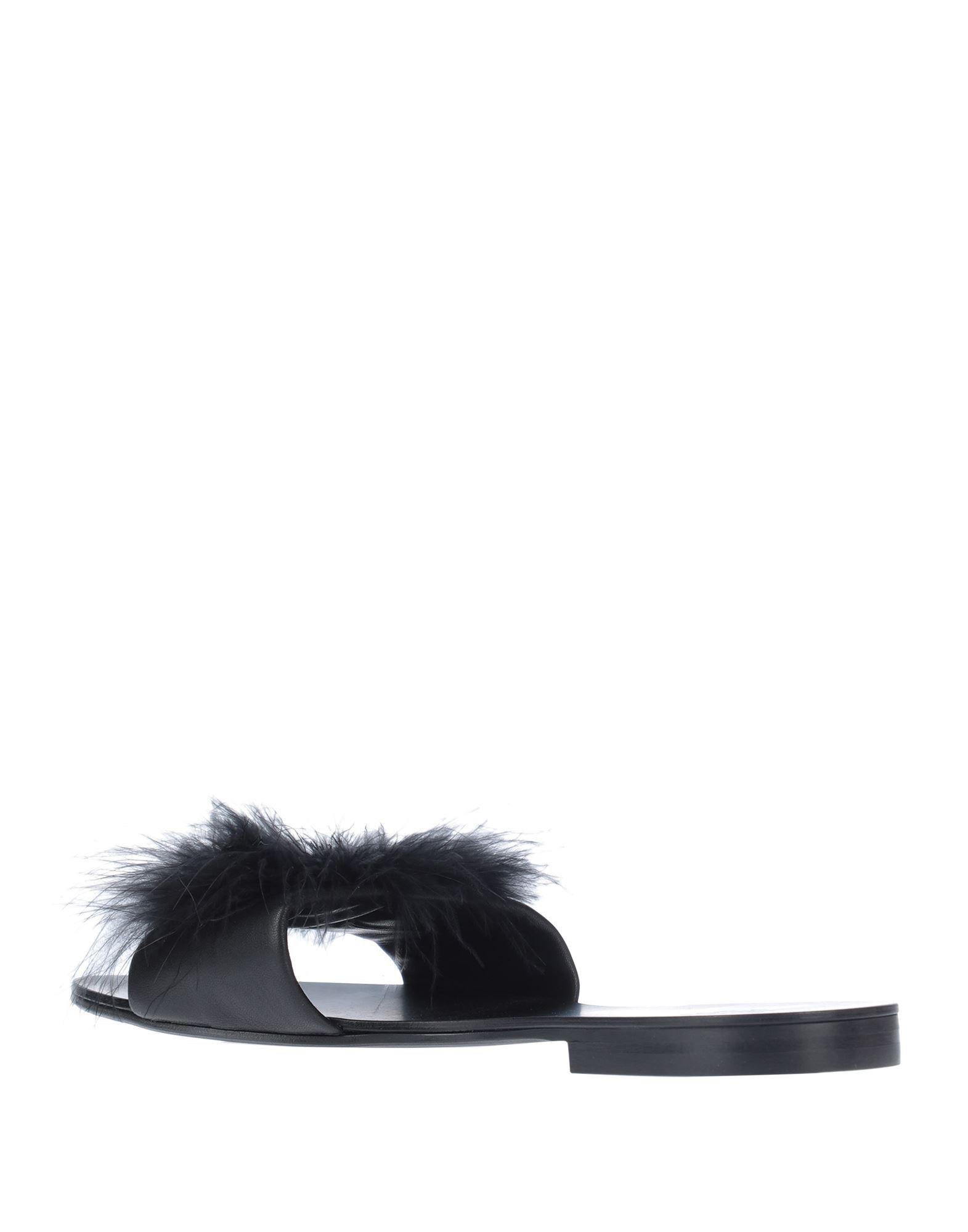 Le Petit Trou Black Leather Sliders