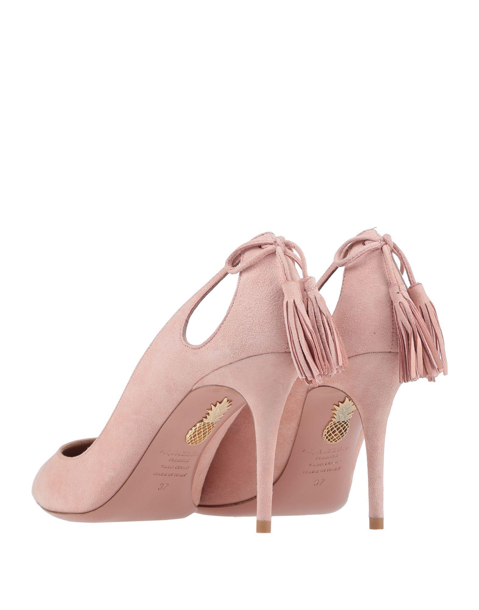 Aquazzura Pink Leather Heels